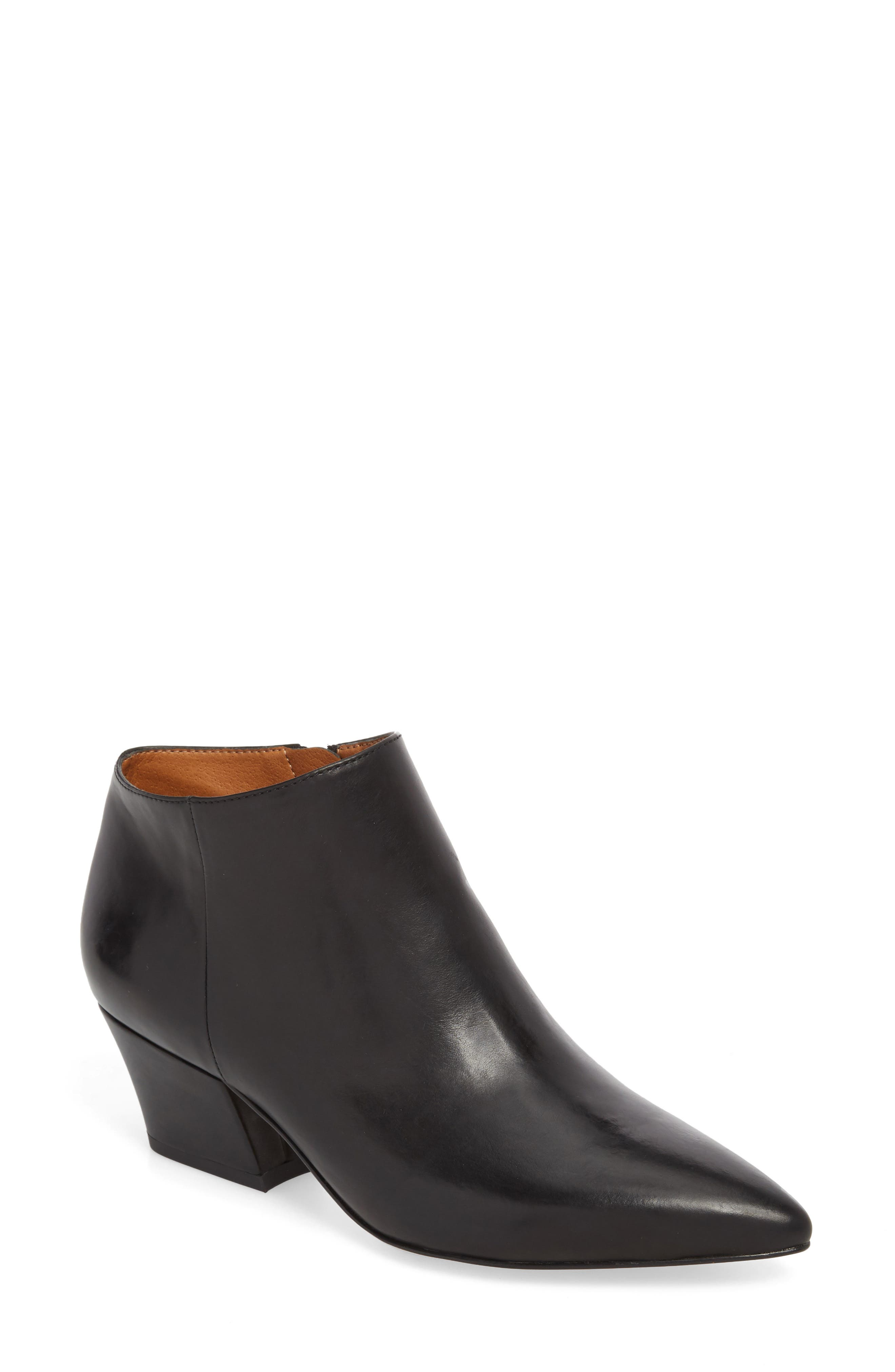 Lowe Bootie,                         Main,                         color, BLACK LEATHER
