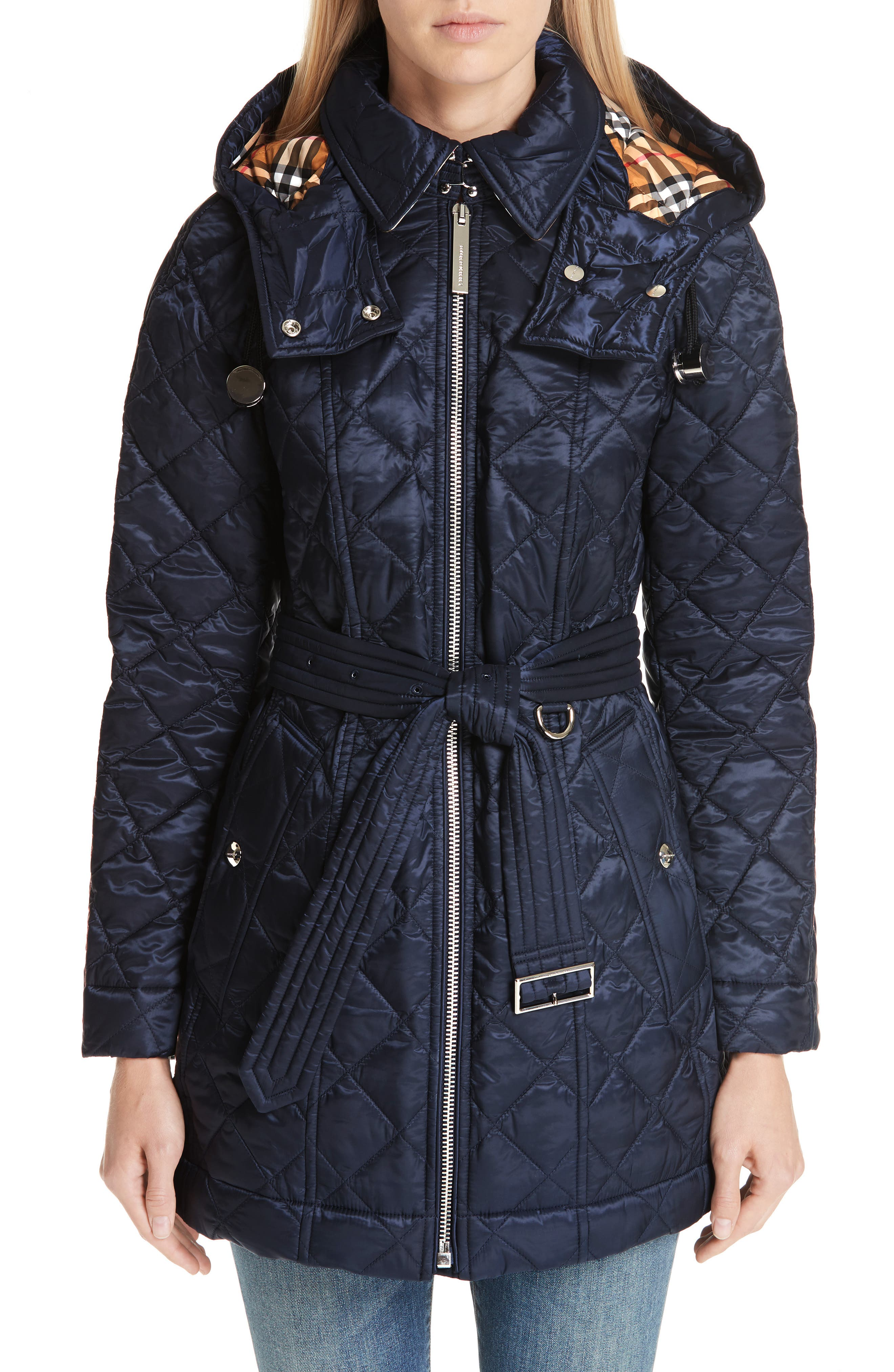Baughton 18 Quilted Coat,                             Main thumbnail 1, color,                             INK
