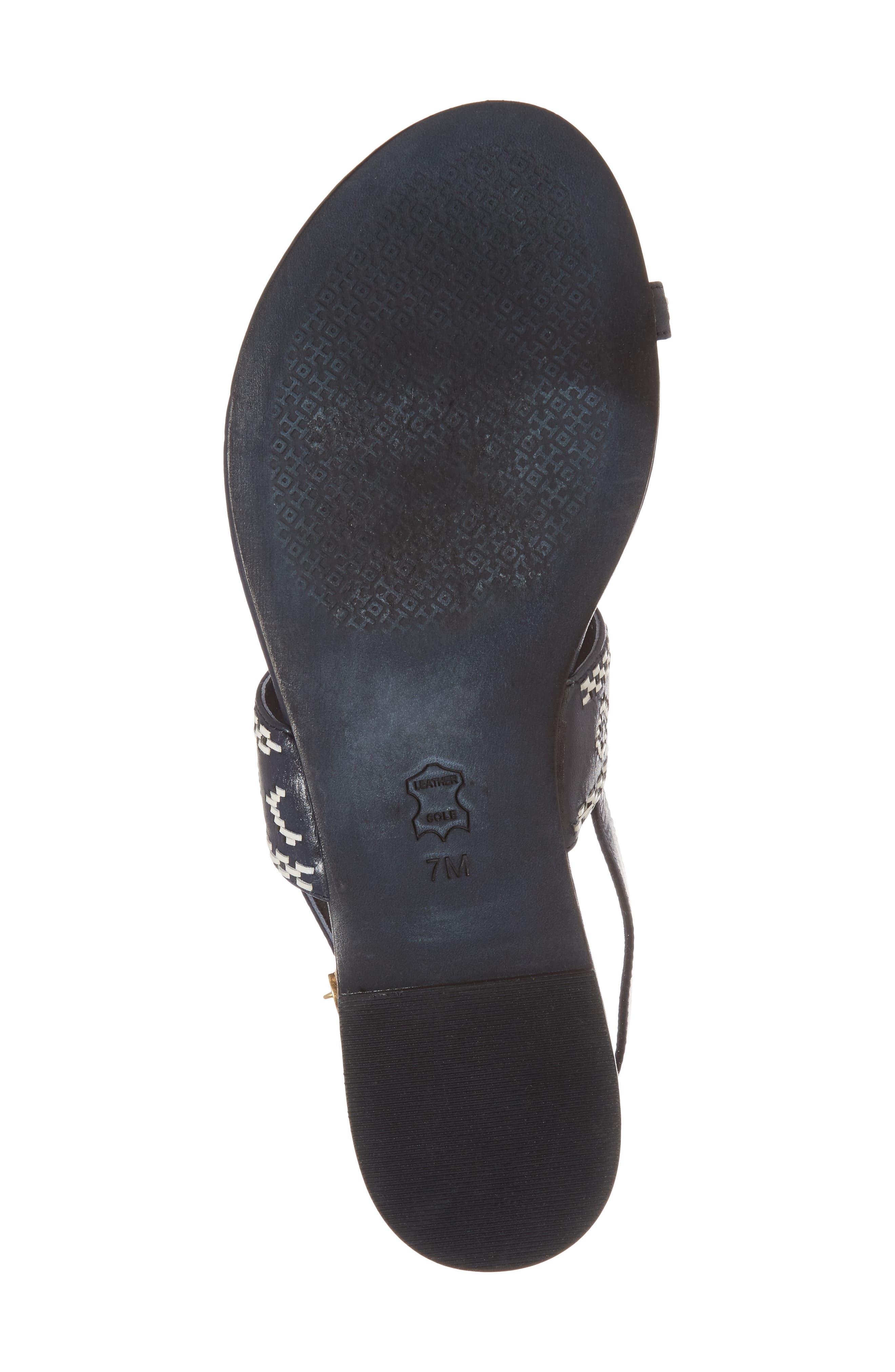 Blake Toe Loop Slingback Sandal,                             Alternate thumbnail 6, color,                             PERFECT NAVY/ PERFECT IVORY