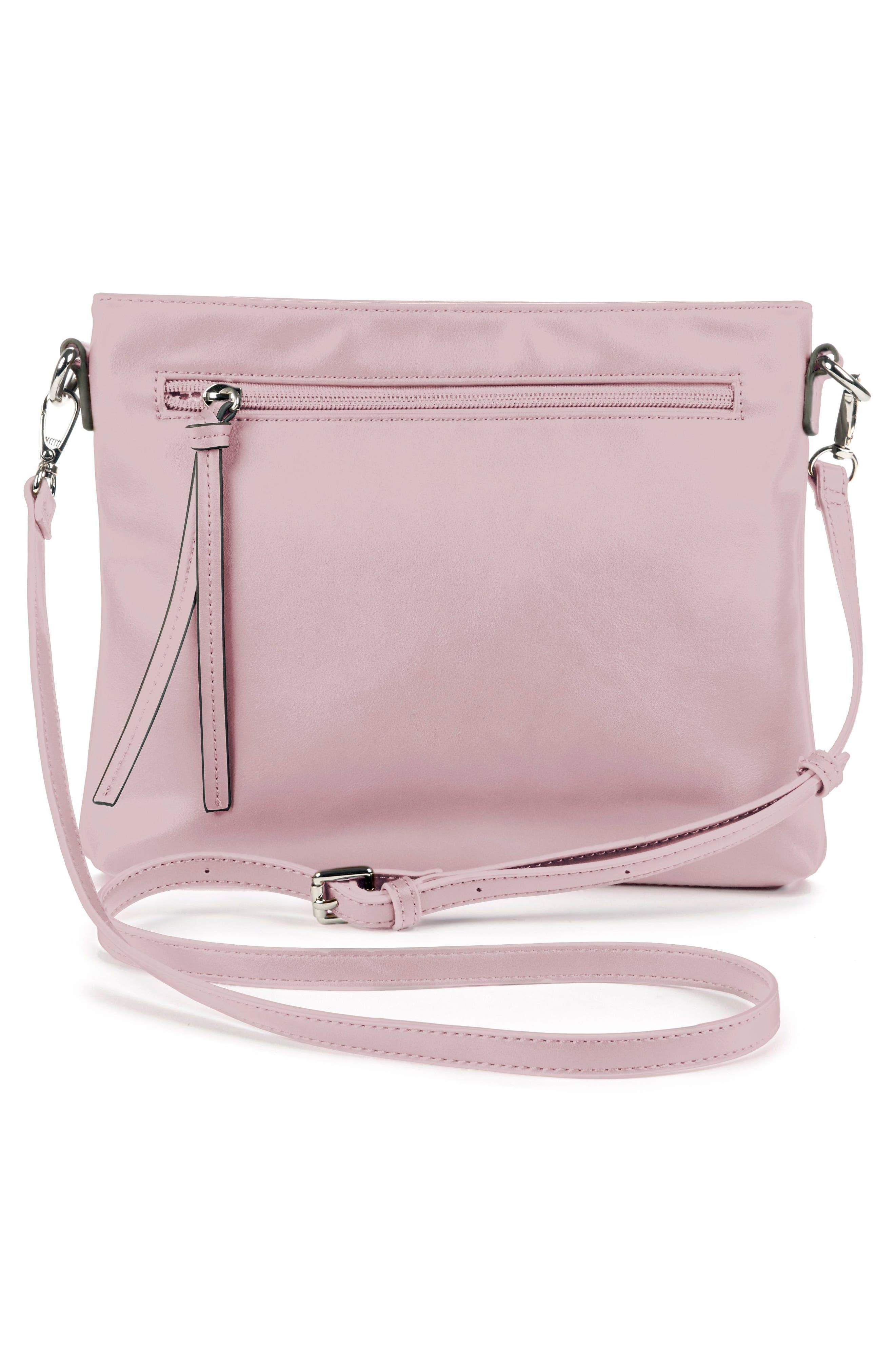 Flat Faux Leather Crossbody Bag,                             Alternate thumbnail 6, color,
