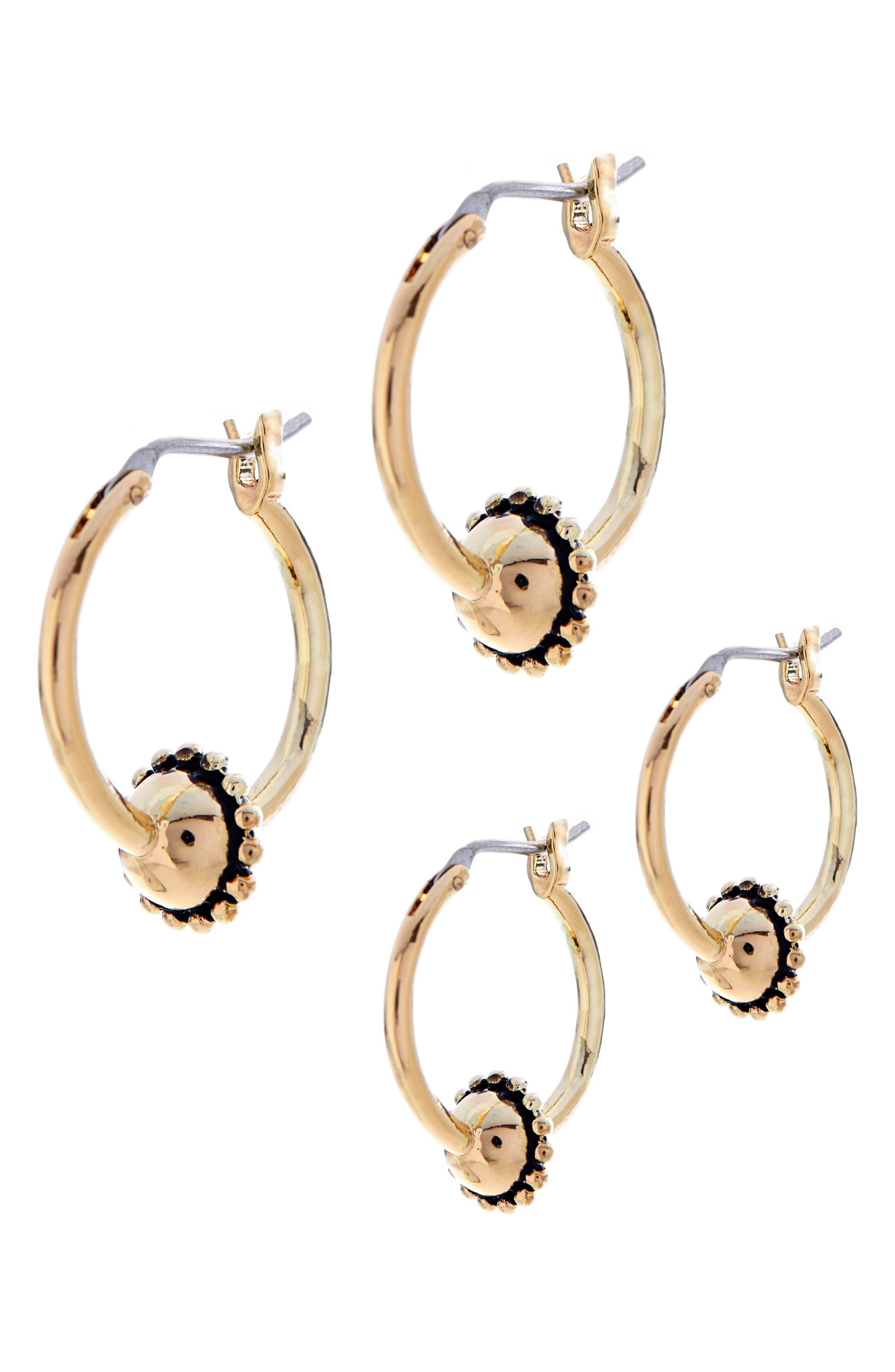 Baroque Hoop Earrings,                             Alternate thumbnail 6, color,