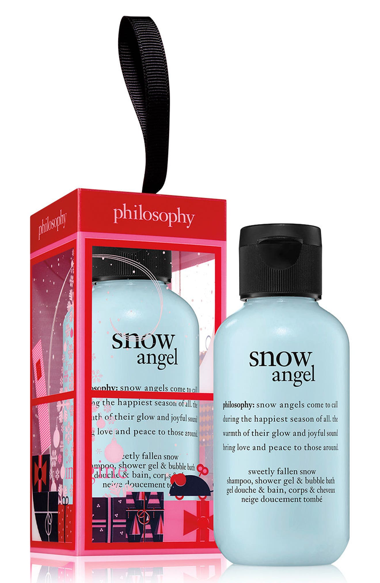 snow angel shampoo, shower gel & bubble bath ornament,                             Alternate thumbnail 2, color,