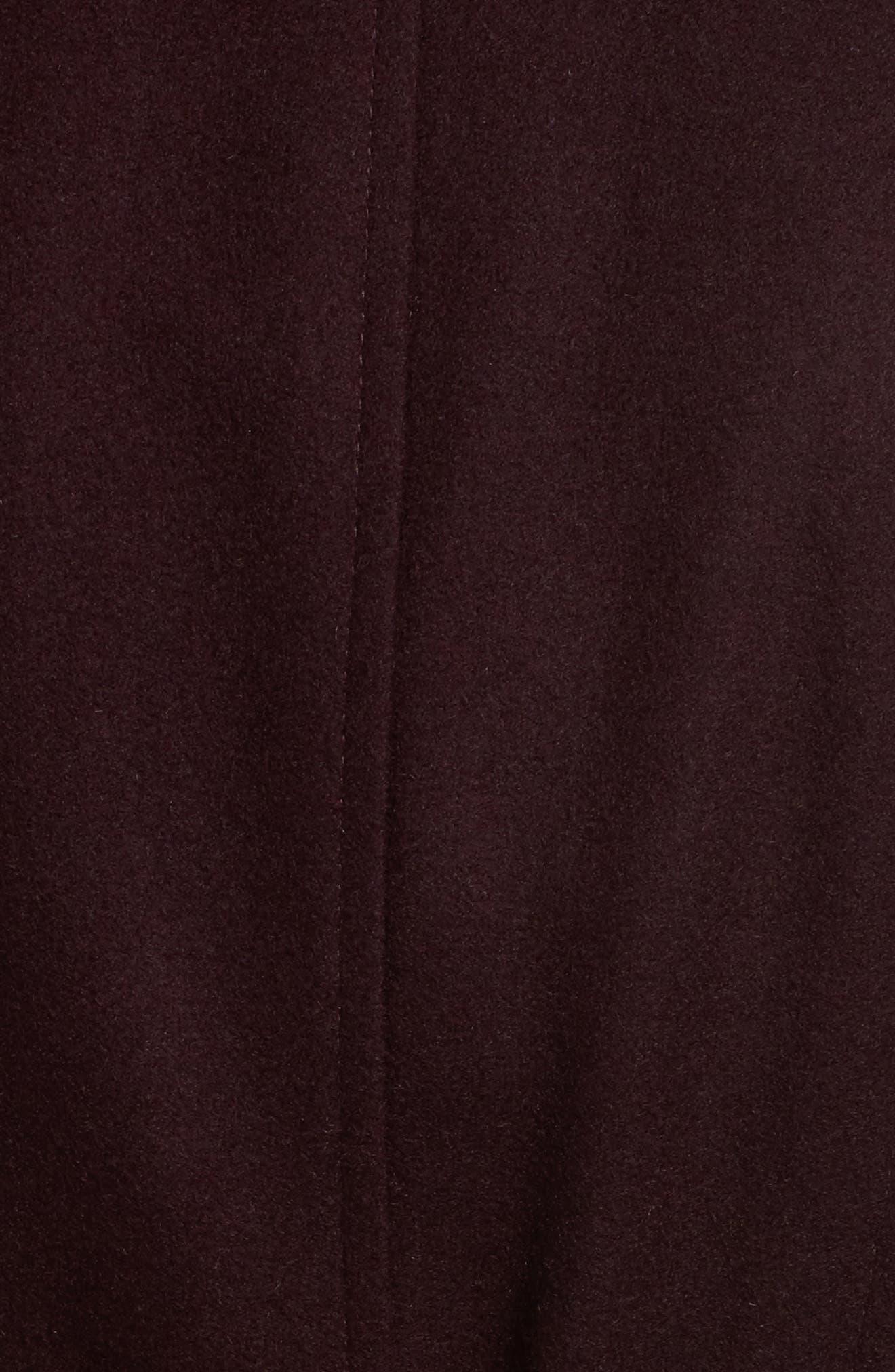 Faux Leather & Faux Fur Trim Belted Wool Blend Coat,                             Alternate thumbnail 41, color,