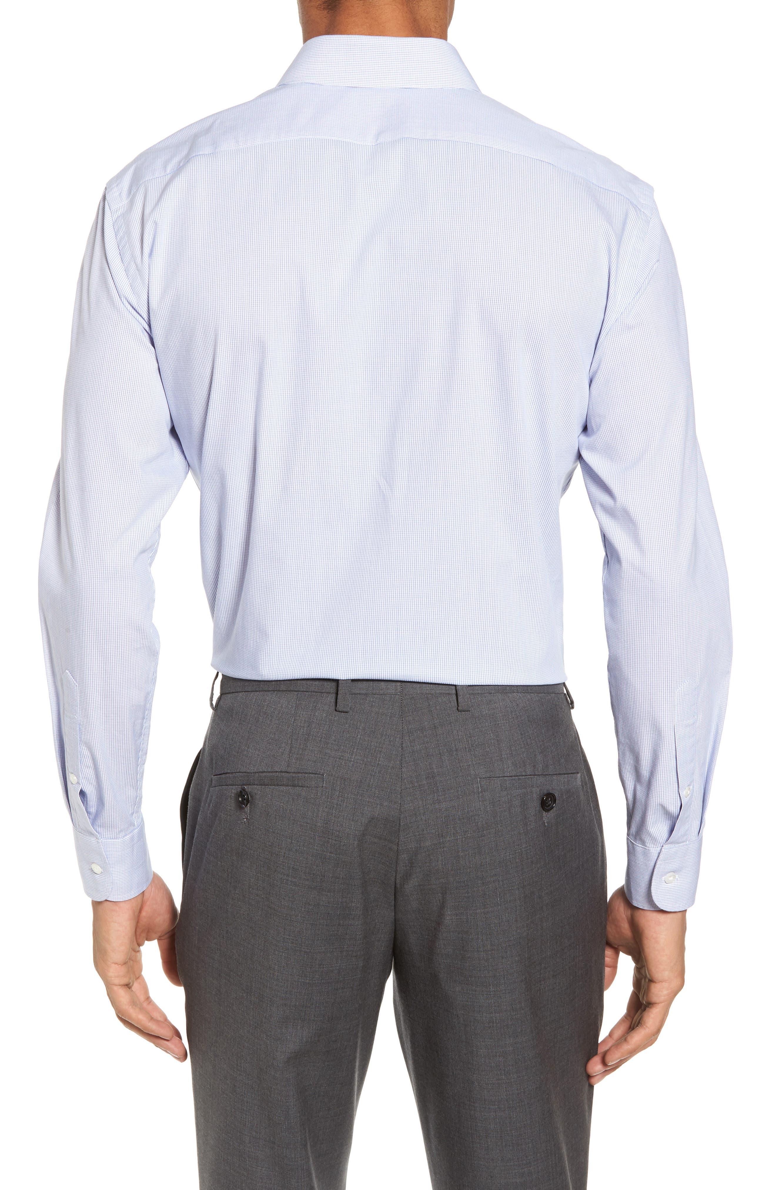 Tech-Smart Trim Fit Stretch Tattersall Dress Shirt,                             Alternate thumbnail 2, color,                             401