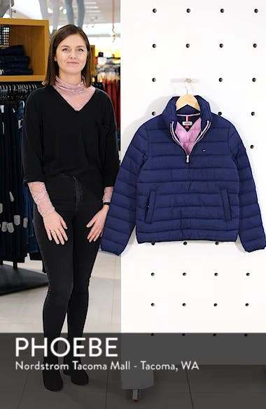 TJW Quilted Half-Zip Puffer Jacket, sales video thumbnail
