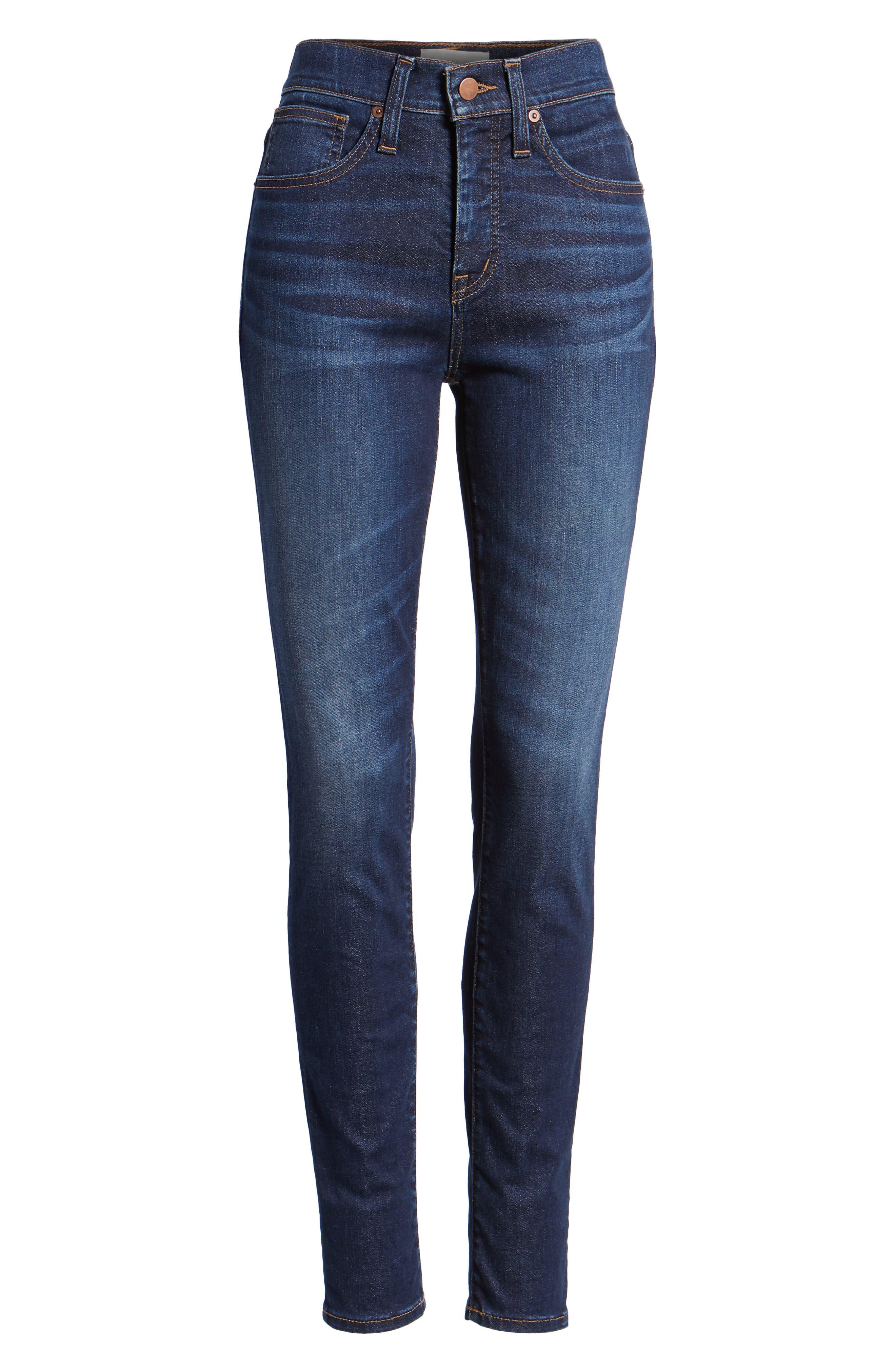 Skinny Jeans,                             Alternate thumbnail 7, color,                             DARK SOFT
