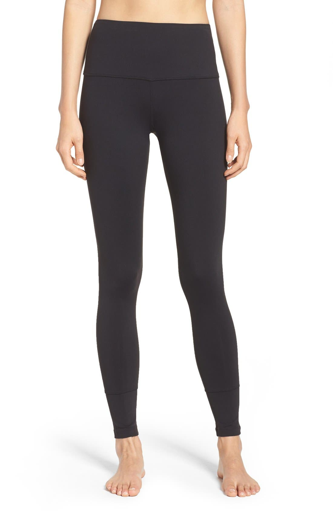 'Bardot' High Waist Leggings,                             Main thumbnail 1, color,                             001