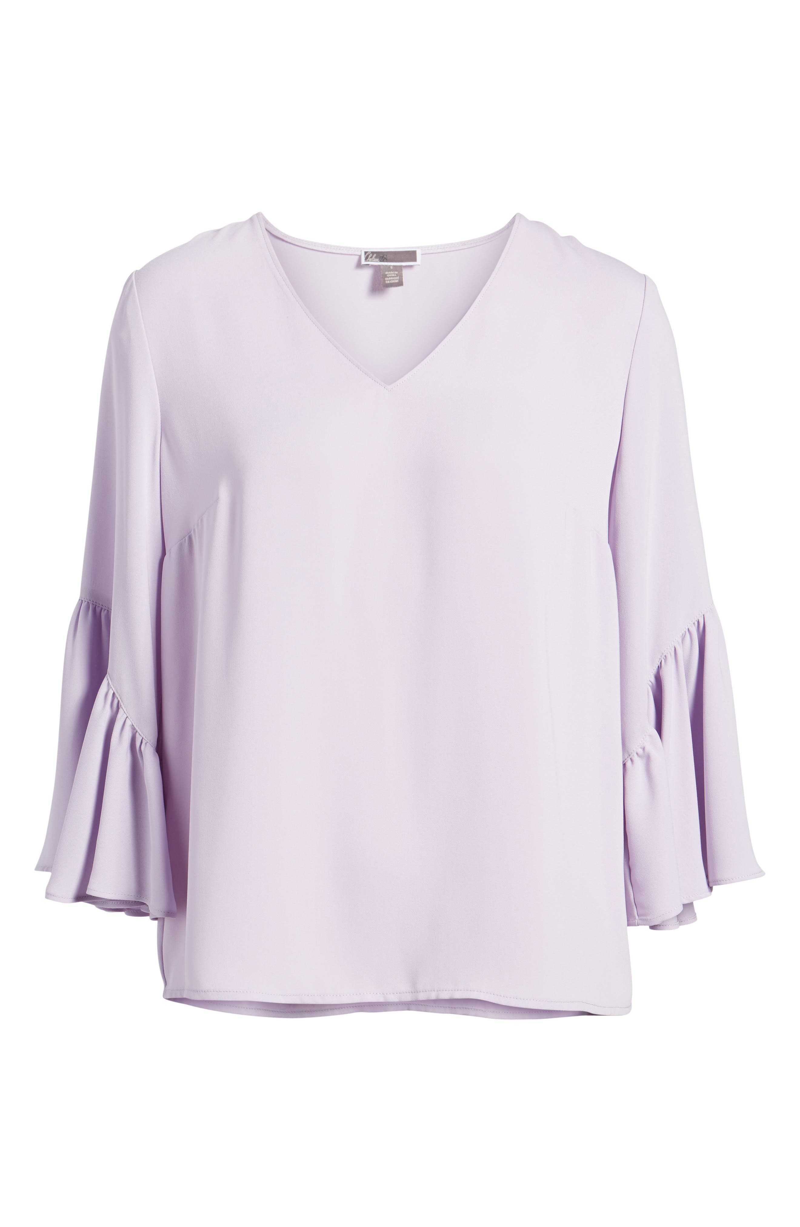 Asymmetrical Bell Sleeve Top,                             Alternate thumbnail 6, color,                             530