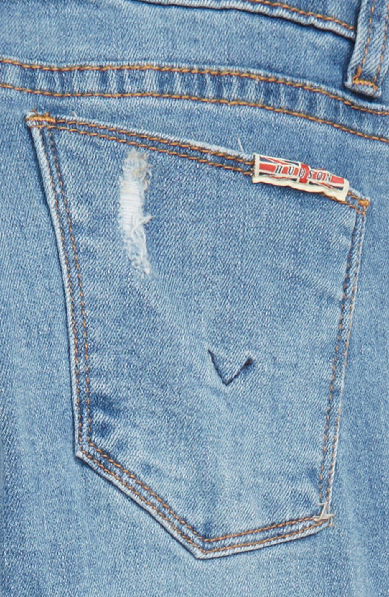 Kaia Convertible Skinny Jeans,                             Alternate thumbnail 3, color,                             COASTAL BLUE WASH