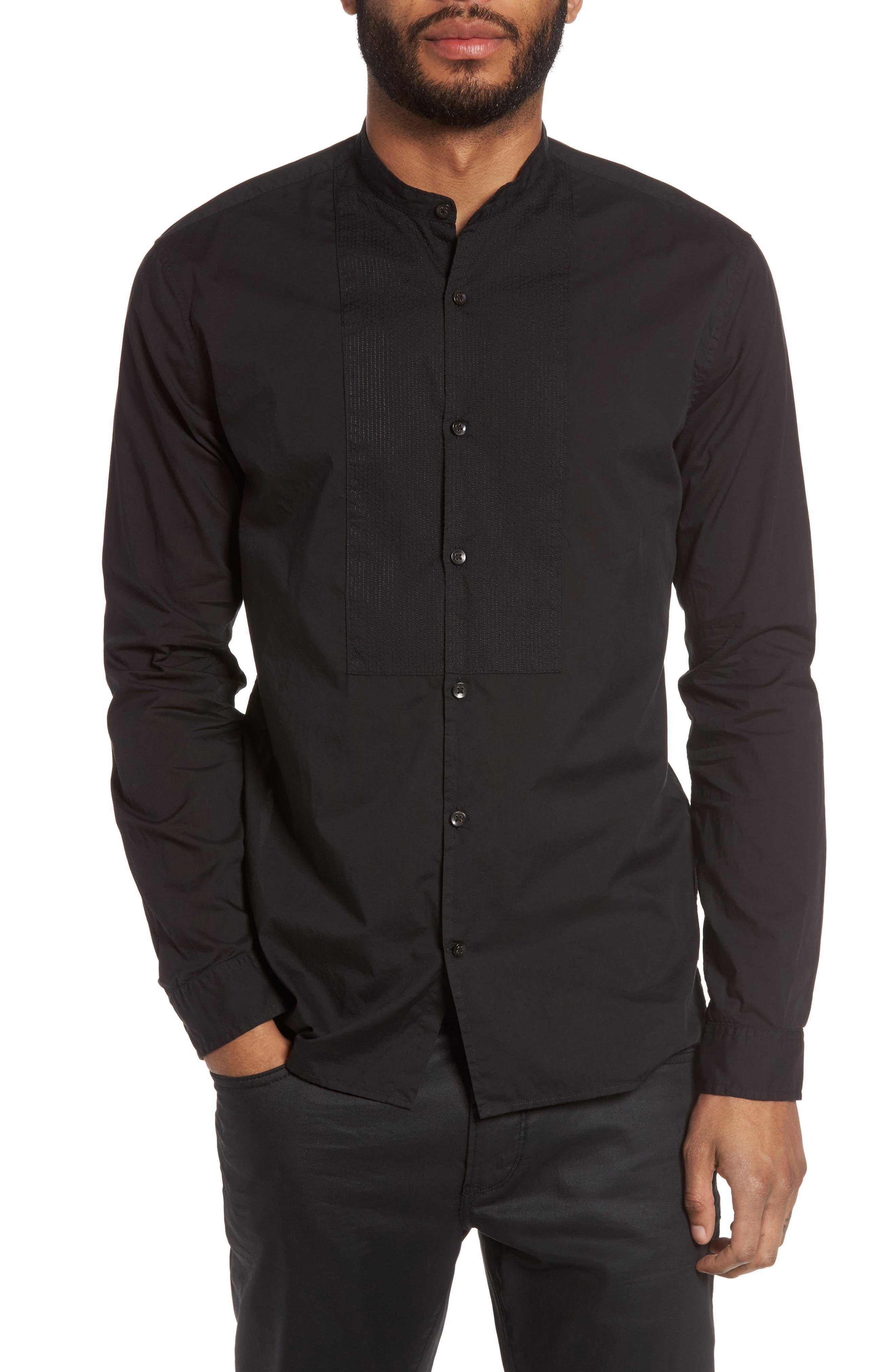 Trim Fit Bib Front Sport Shirt,                         Main,                         color, 001