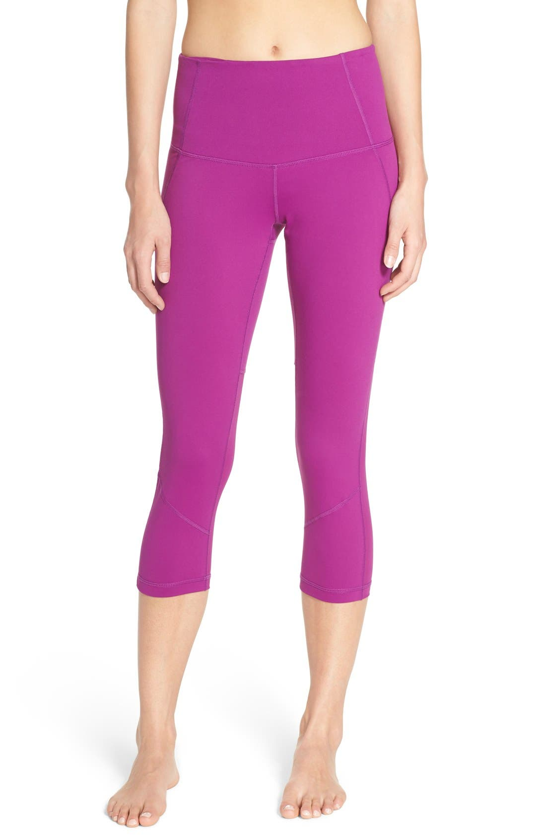 'Live In - Sultry' High Waist Mesh Crop Leggings,                             Alternate thumbnail 20, color,