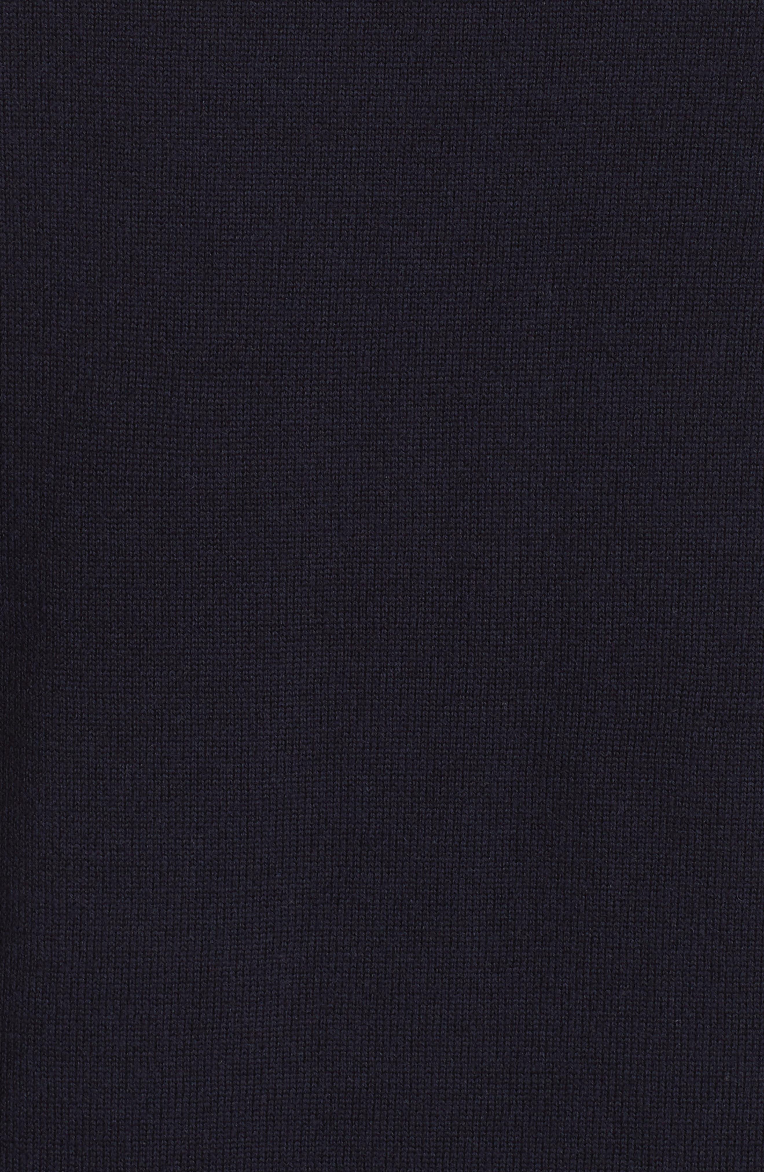 Mimic Raglan Sweater,                             Alternate thumbnail 5, color,                             NAVY