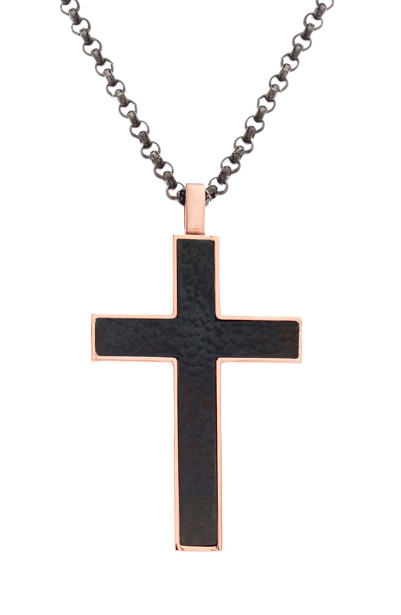 Cross Pendant Necklace,                         Main,                         color,