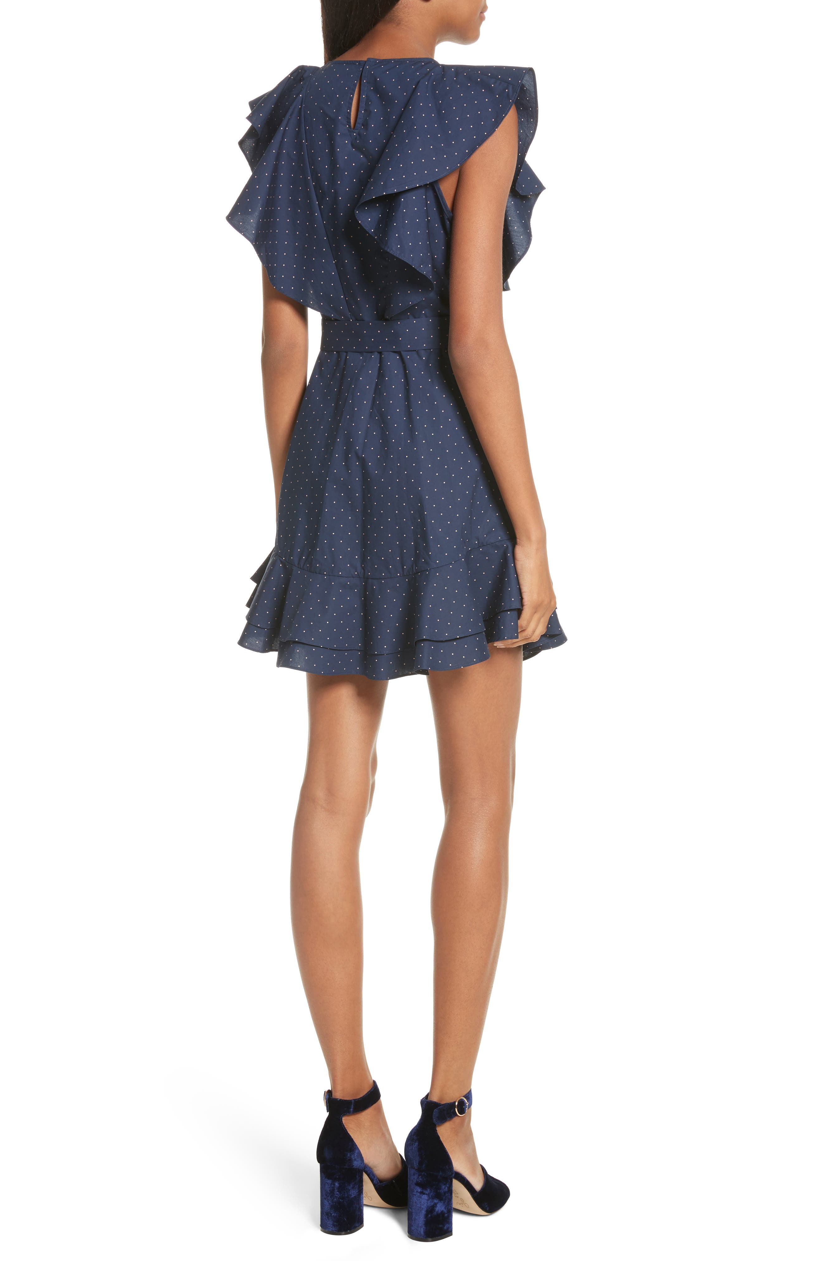 Malachy Ruffle Dot Cotton Dress,                             Alternate thumbnail 2, color,