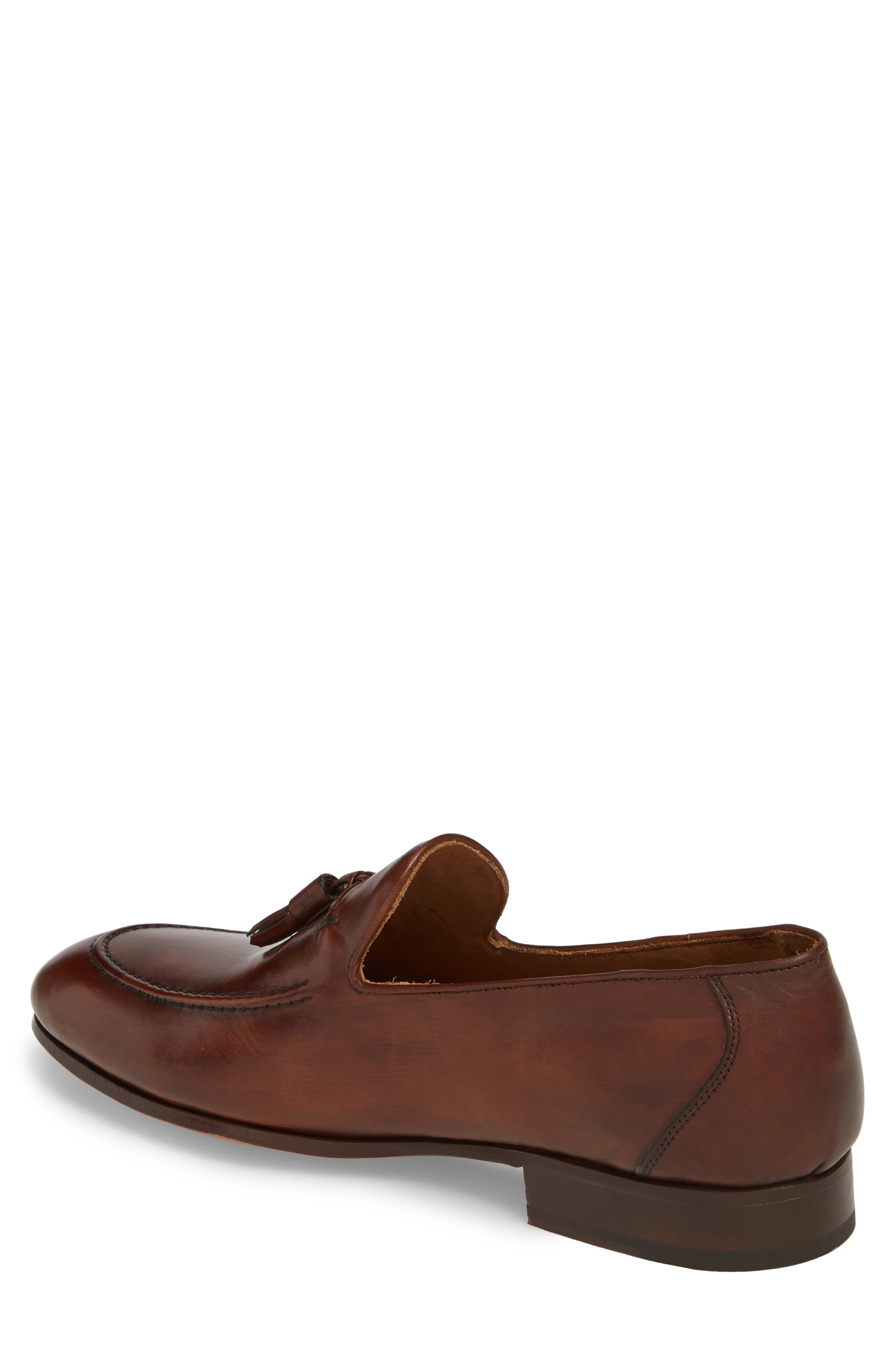 Ario Tassel Loafer,                             Alternate thumbnail 2, color,                             BROWN LEATHER