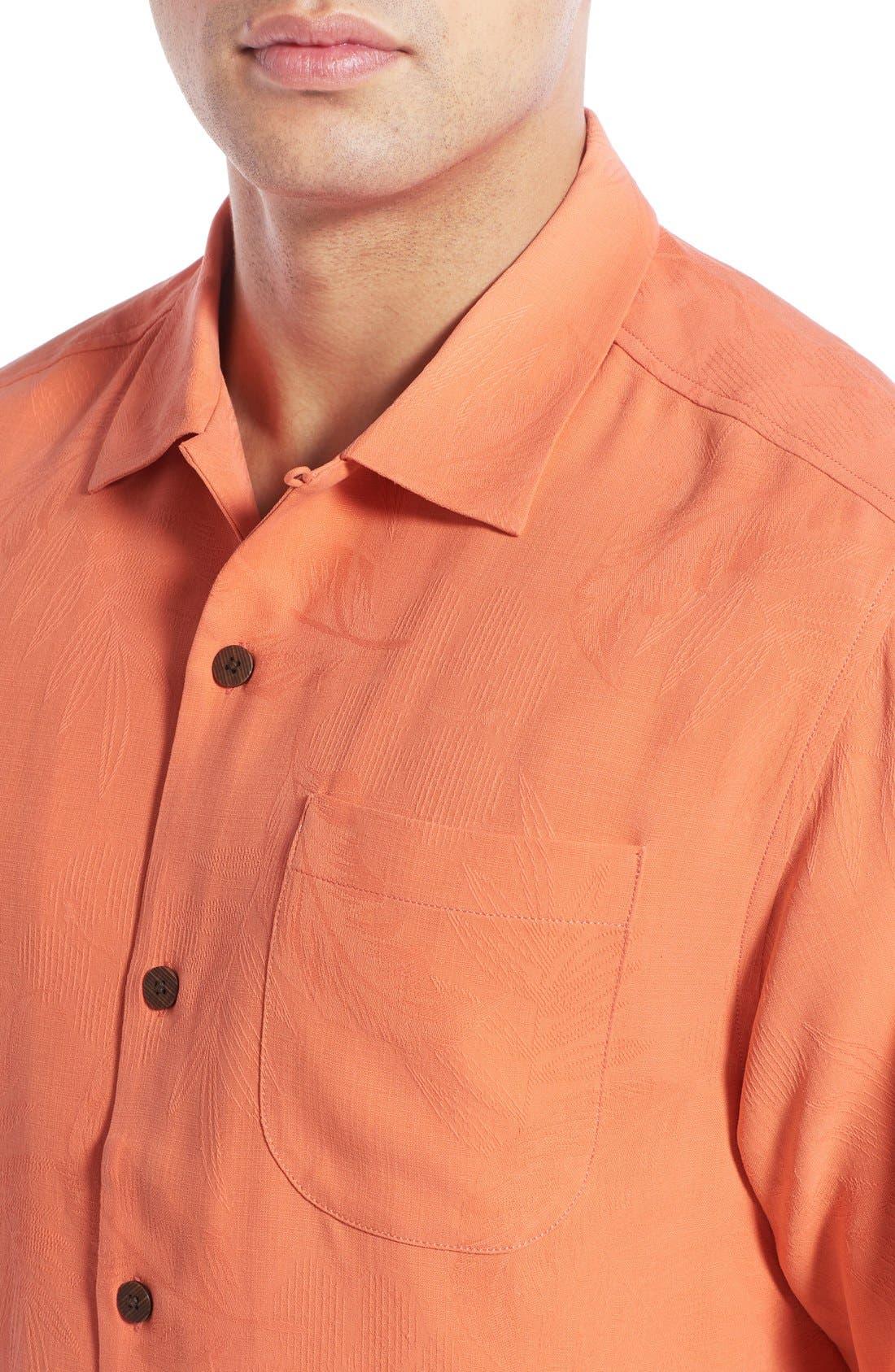 Rio Fronds Short Sleeve Silk Sport Shirt,                             Alternate thumbnail 63, color,