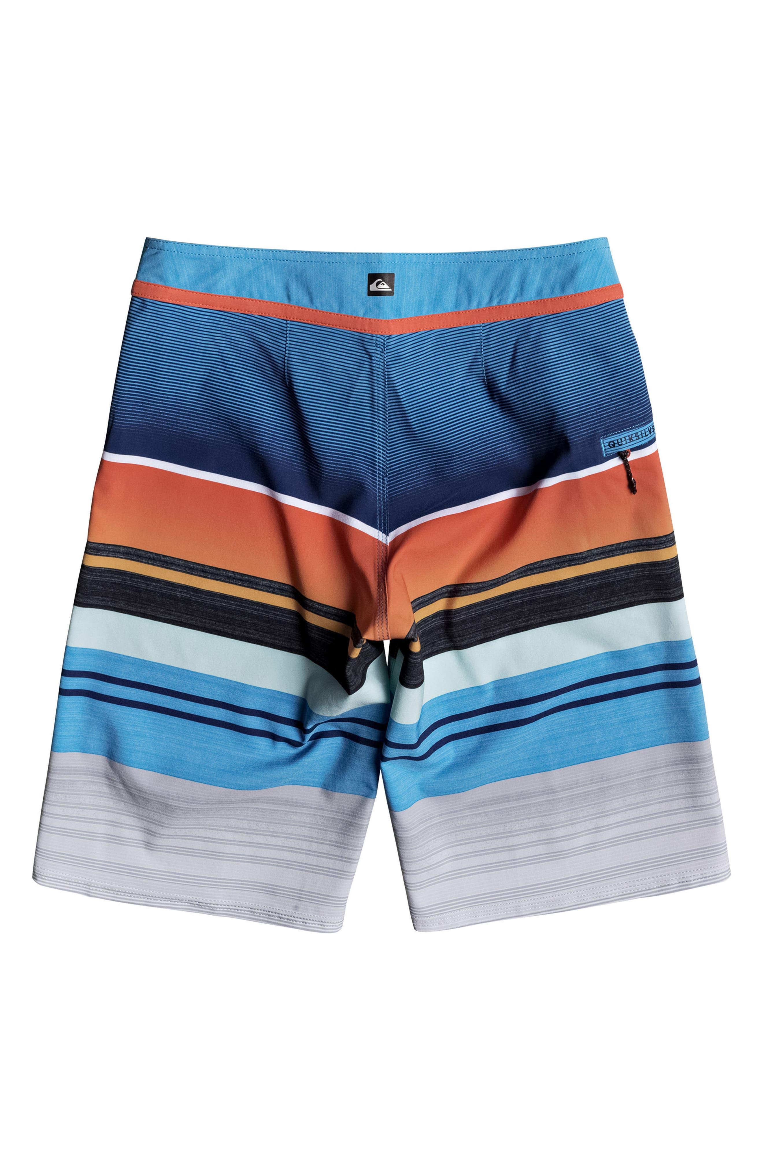 Everyday Stripe Vee Board Shorts,                             Alternate thumbnail 13, color,