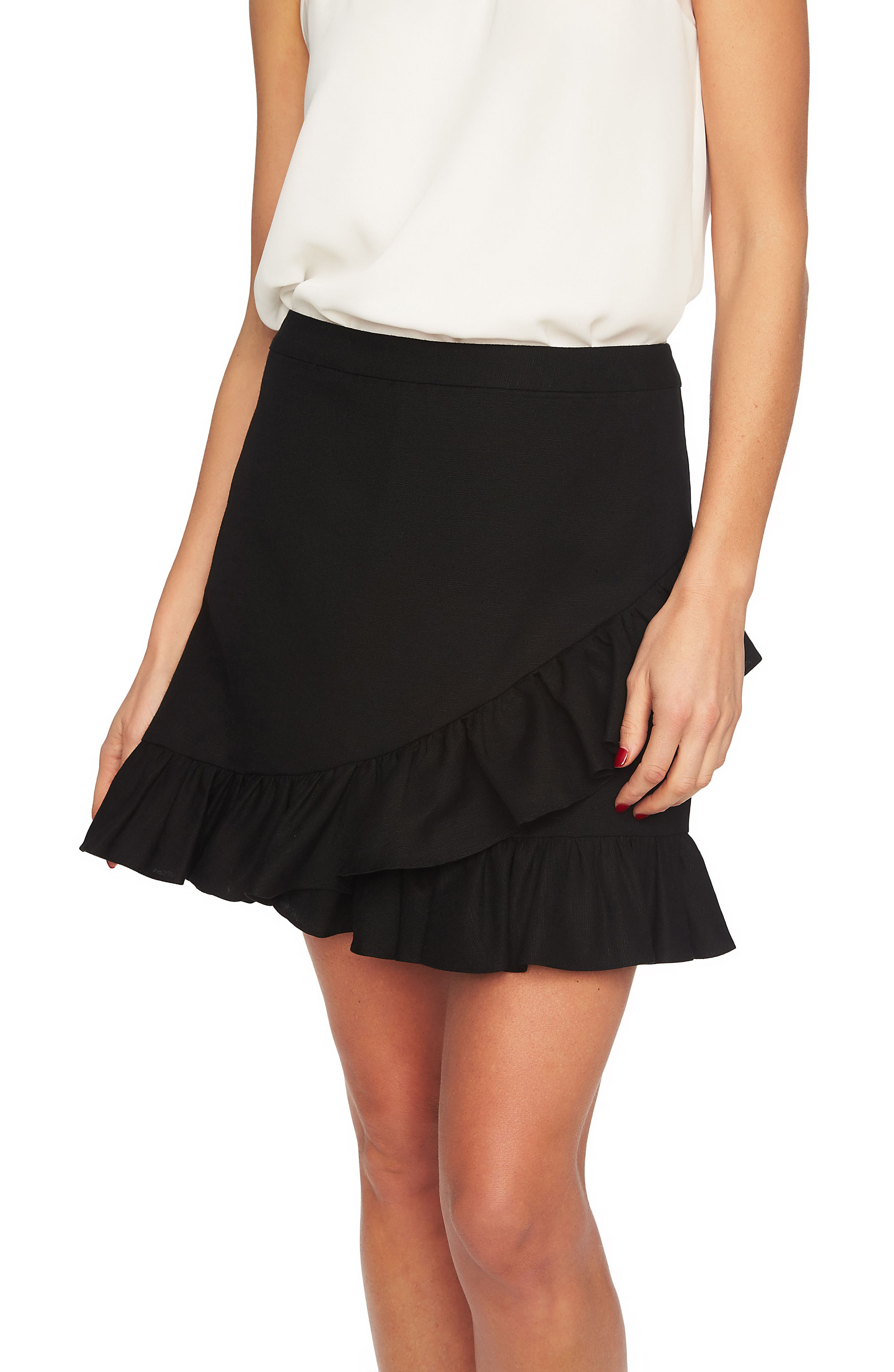 Ruffle Miniskirt,                             Alternate thumbnail 3, color,