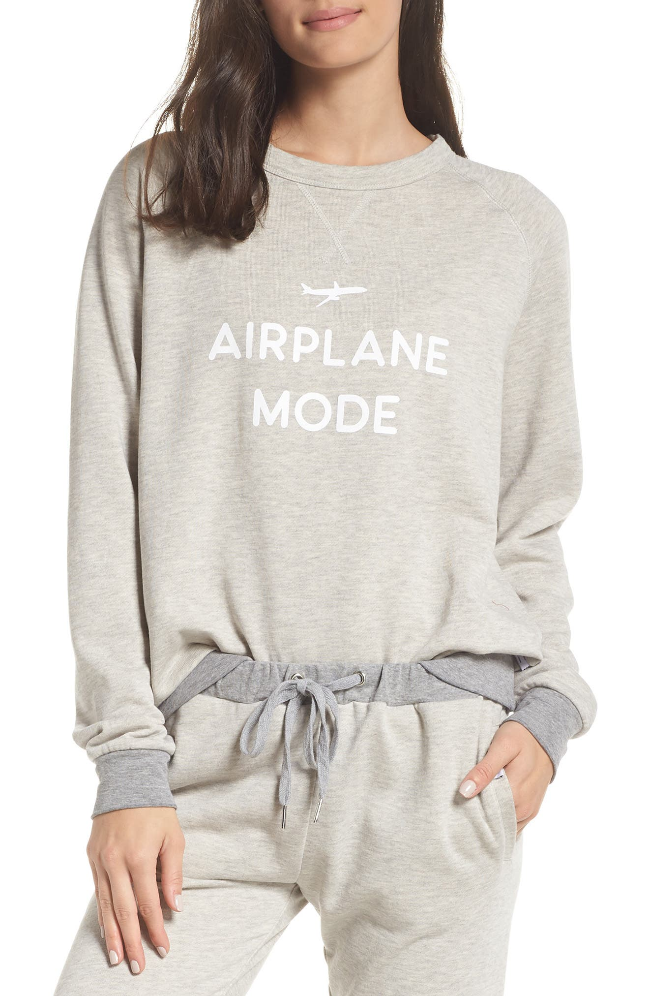THE LAUNDRY ROOM Airplane Mode Sweatshirt in Pebble Heather