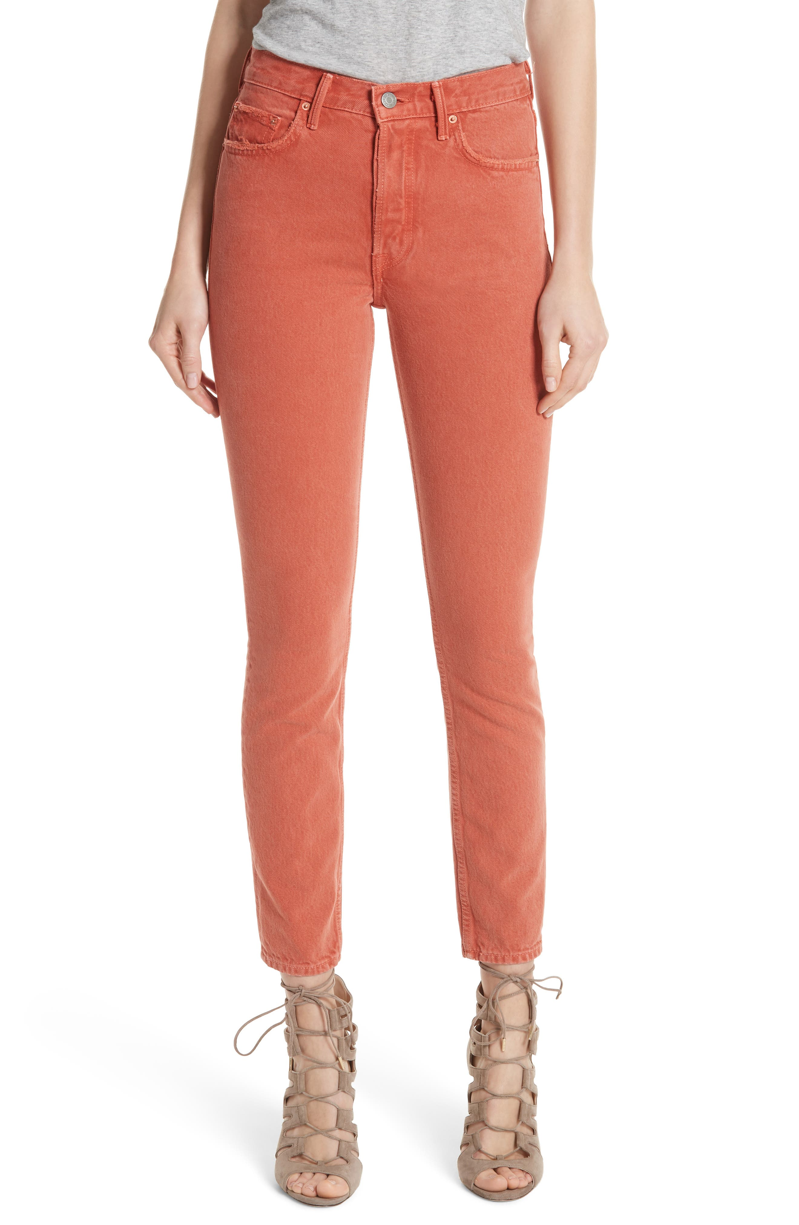 Karolina High Waist Skinny Jeans,                         Main,                         color, MARRAKECH