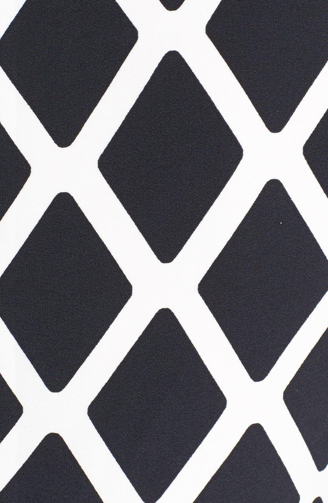 ELIZA J,                             Print Stretch Jersey Shift Dress,                             Alternate thumbnail 2, color,                             001