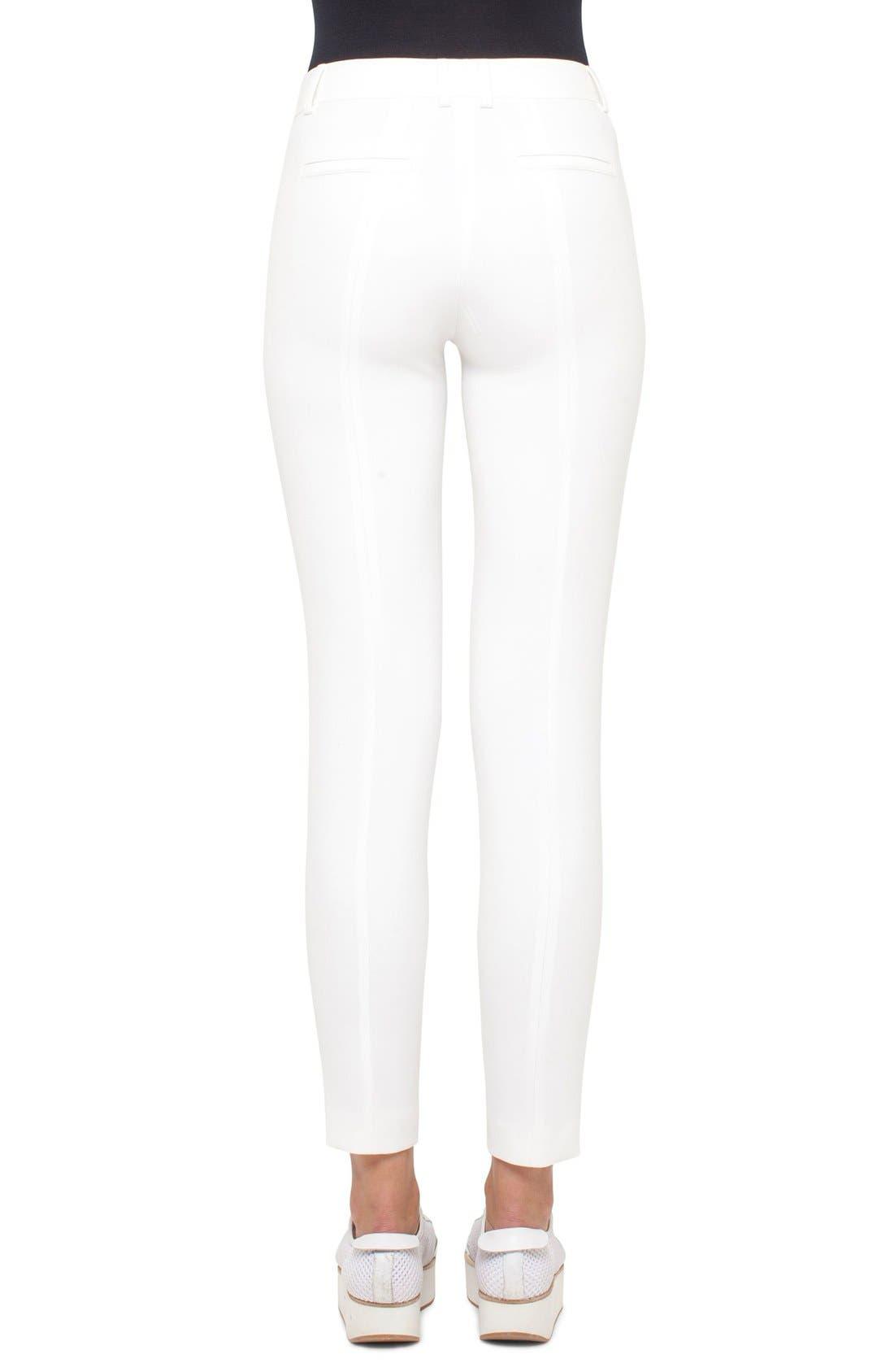 Crepe Slim Pants,                             Alternate thumbnail 2, color,                             CREAM