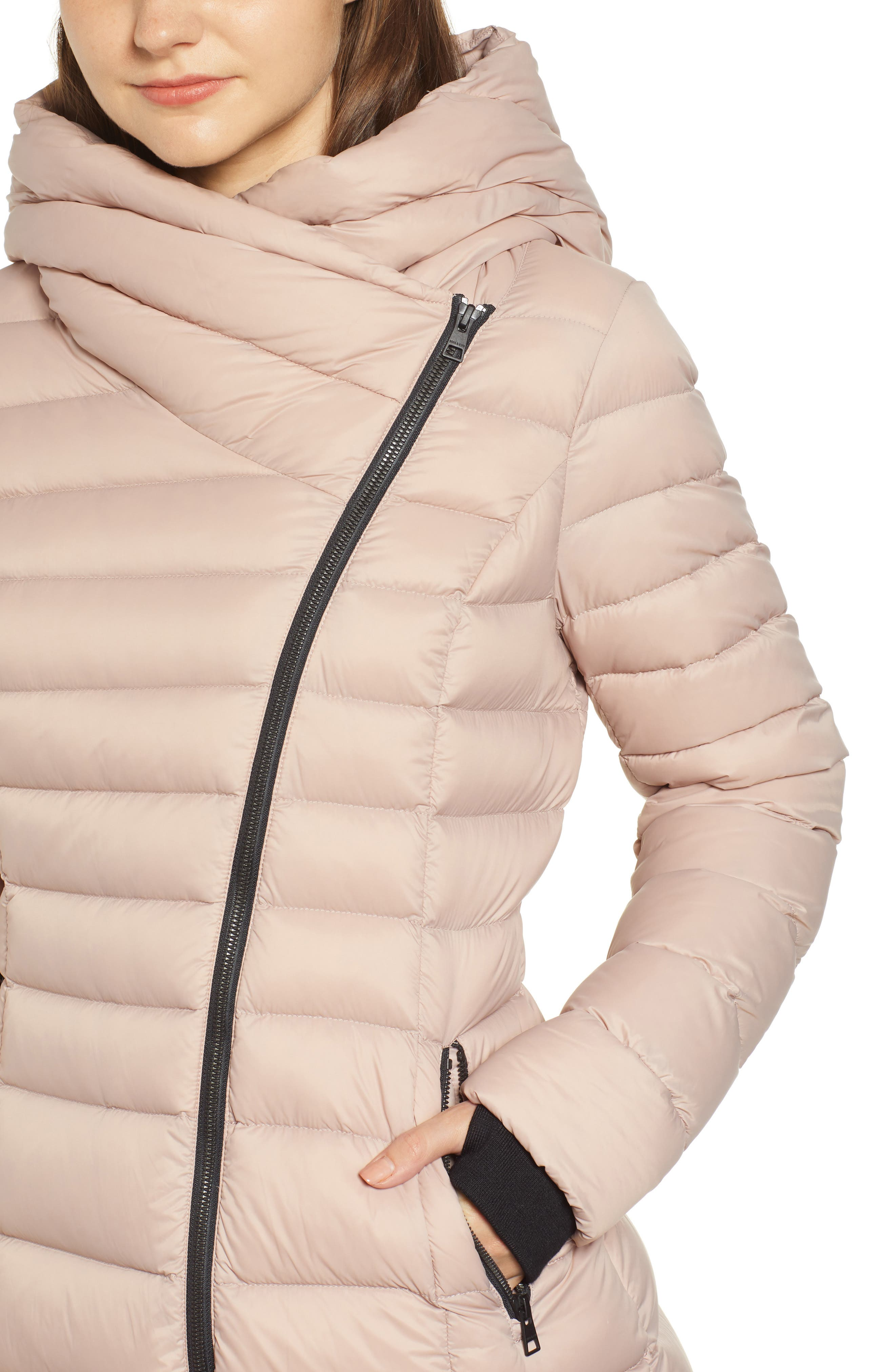 Hooded Down Puffer Jacket,                             Alternate thumbnail 4, color,                             QUARTZ