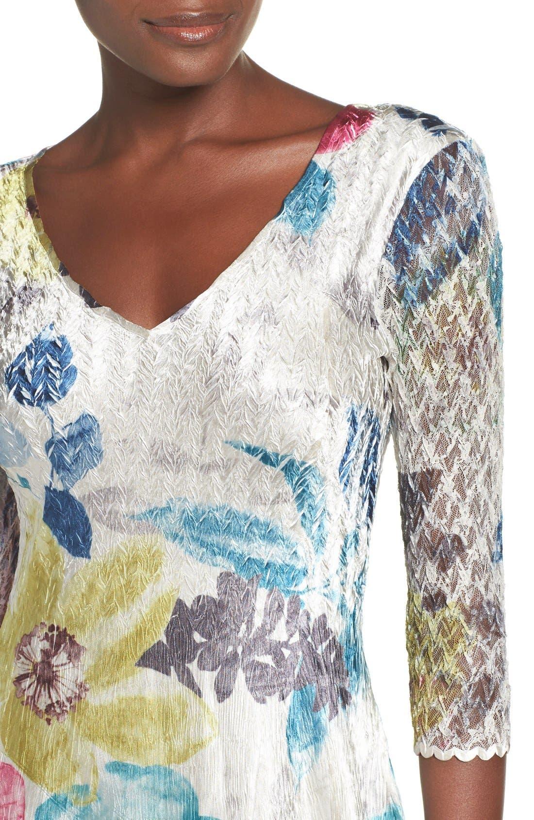 Lace & Charmeuse A-Line Dress,                             Alternate thumbnail 5, color,                             109