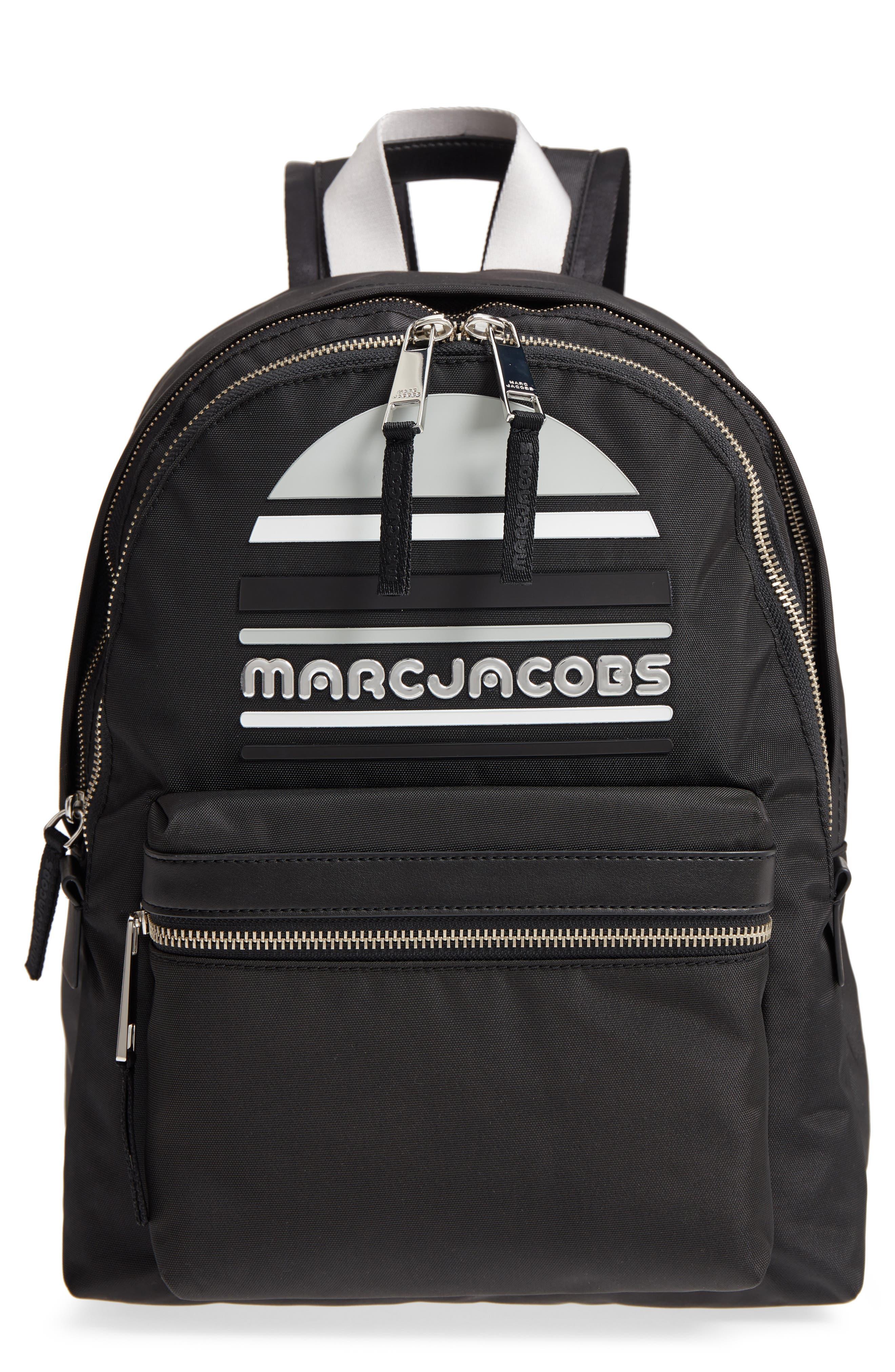 Large Sport Trek Nylon Backpack,                         Main,                         color, BLACK