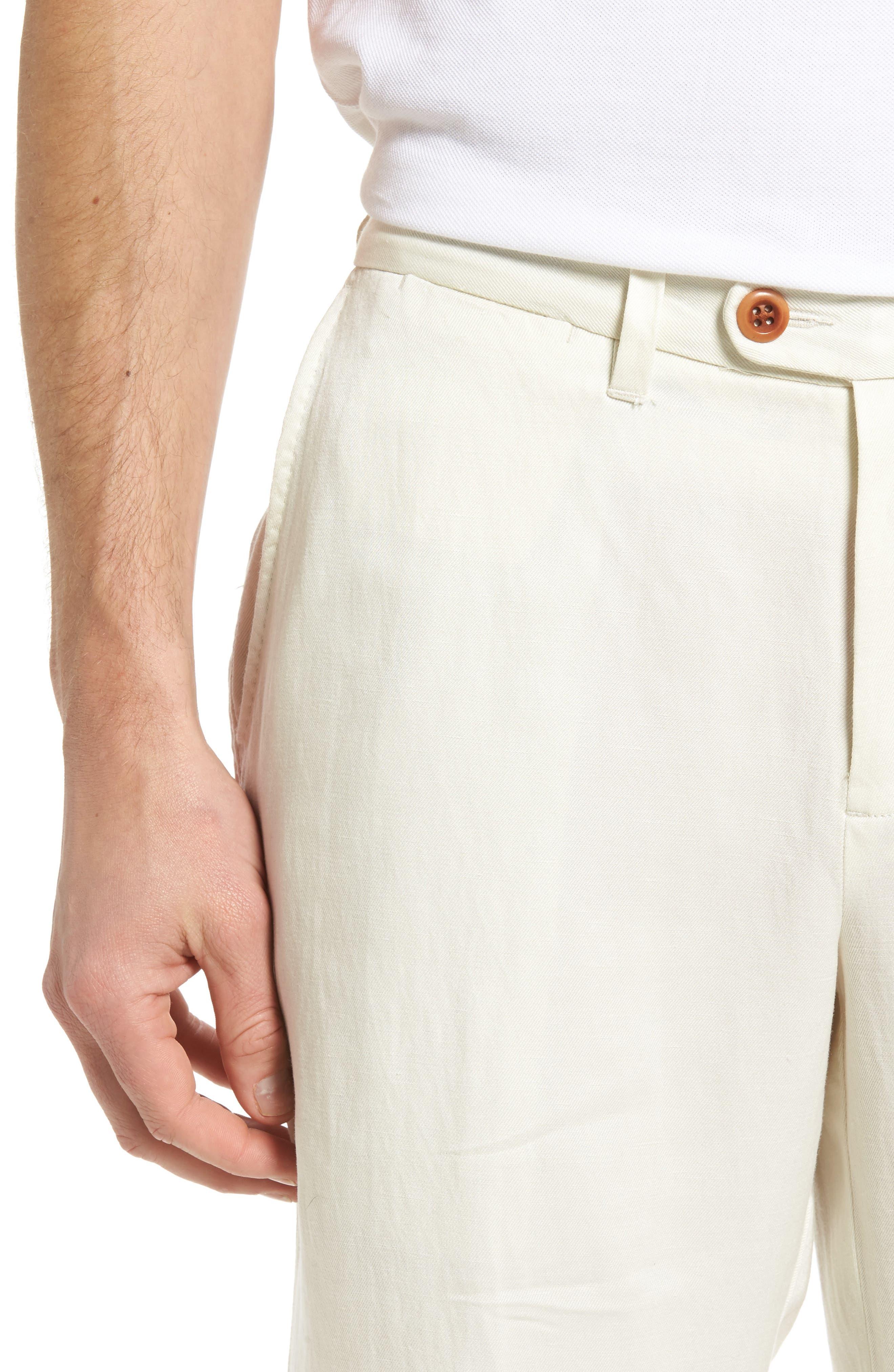 'La Jolla' Flat Front Pants,                             Alternate thumbnail 4, color,                             250