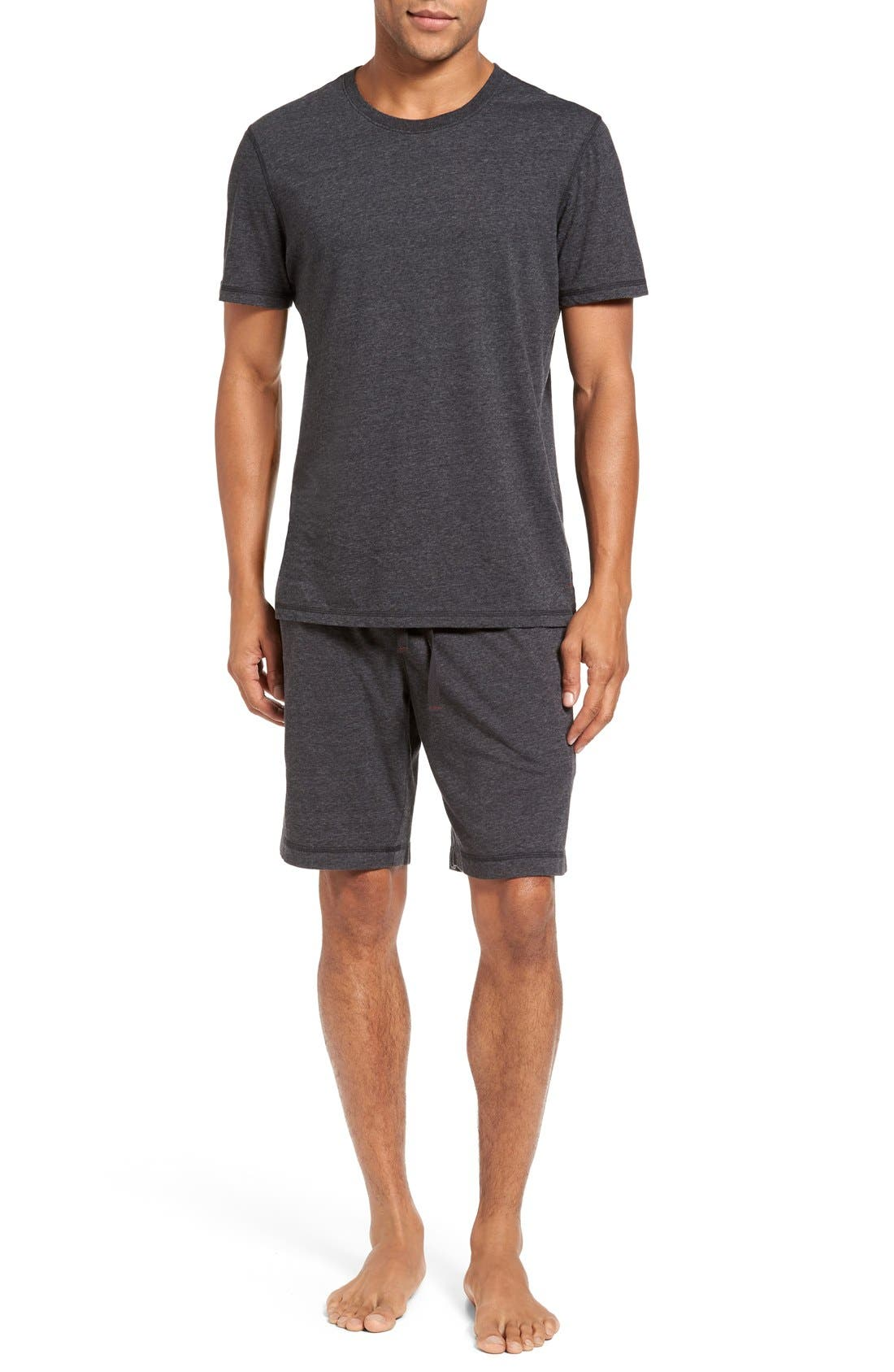 Recycled Cotton Blend T-Shirt,                             Alternate thumbnail 6, color,                             001