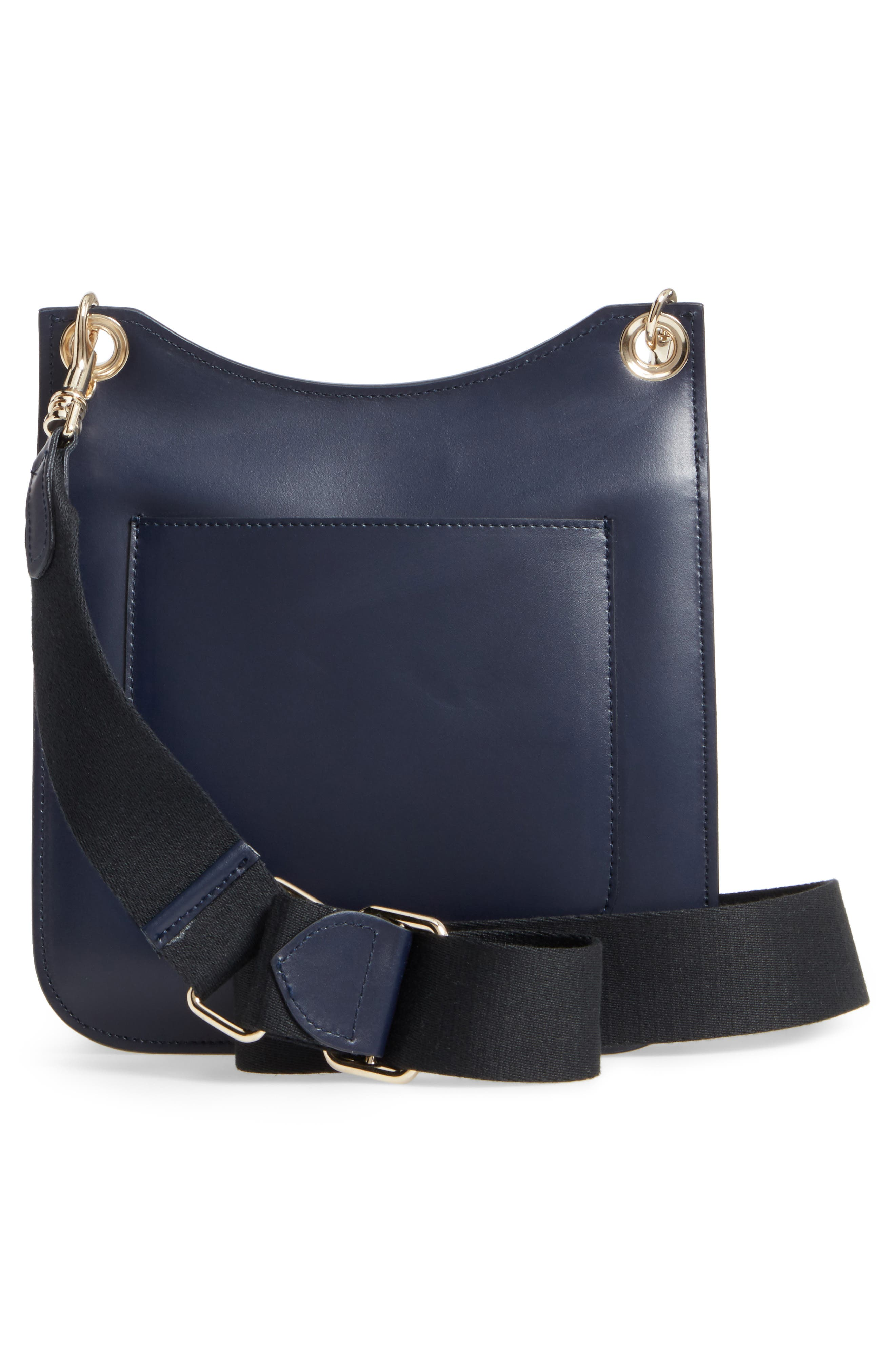 Leather Equestrian Crossbody Bag,                             Alternate thumbnail 3, color,                             400