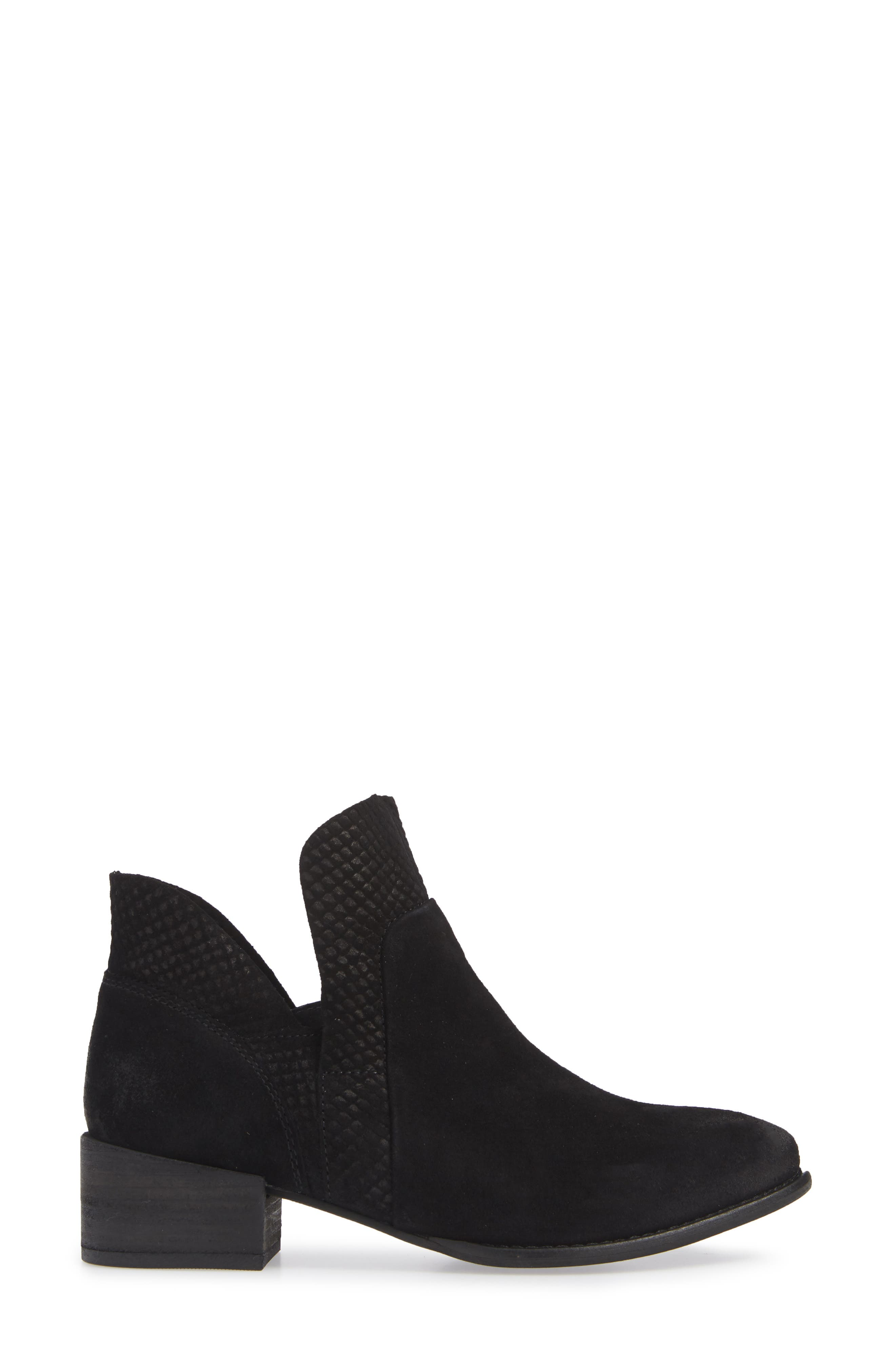 Score Bootie,                             Alternate thumbnail 3, color,                             BLACK SUEDE