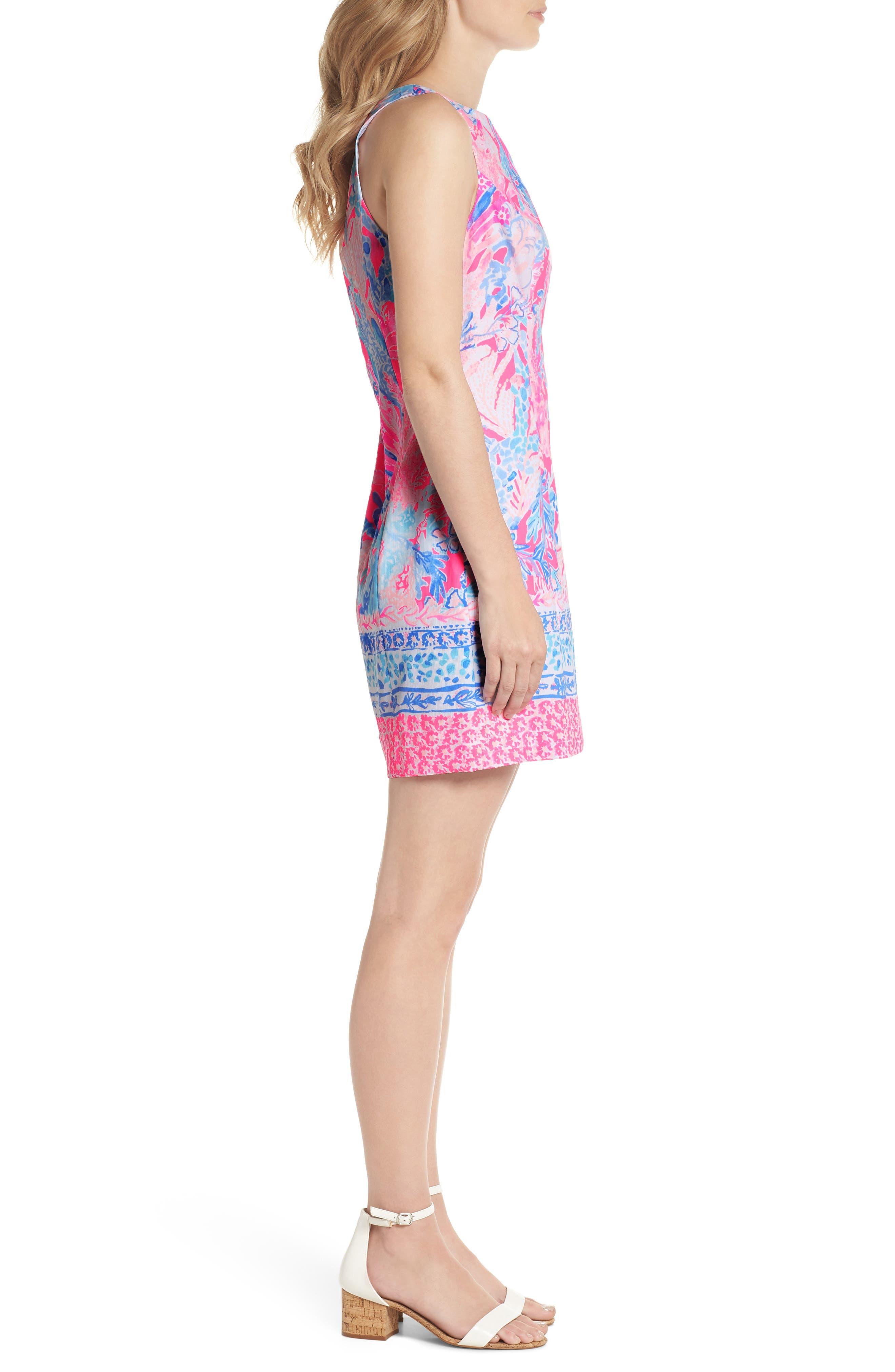 Mila Sheath Dress,                             Alternate thumbnail 3, color,                             LIGHT PASCHA PINK AQUADESIAC