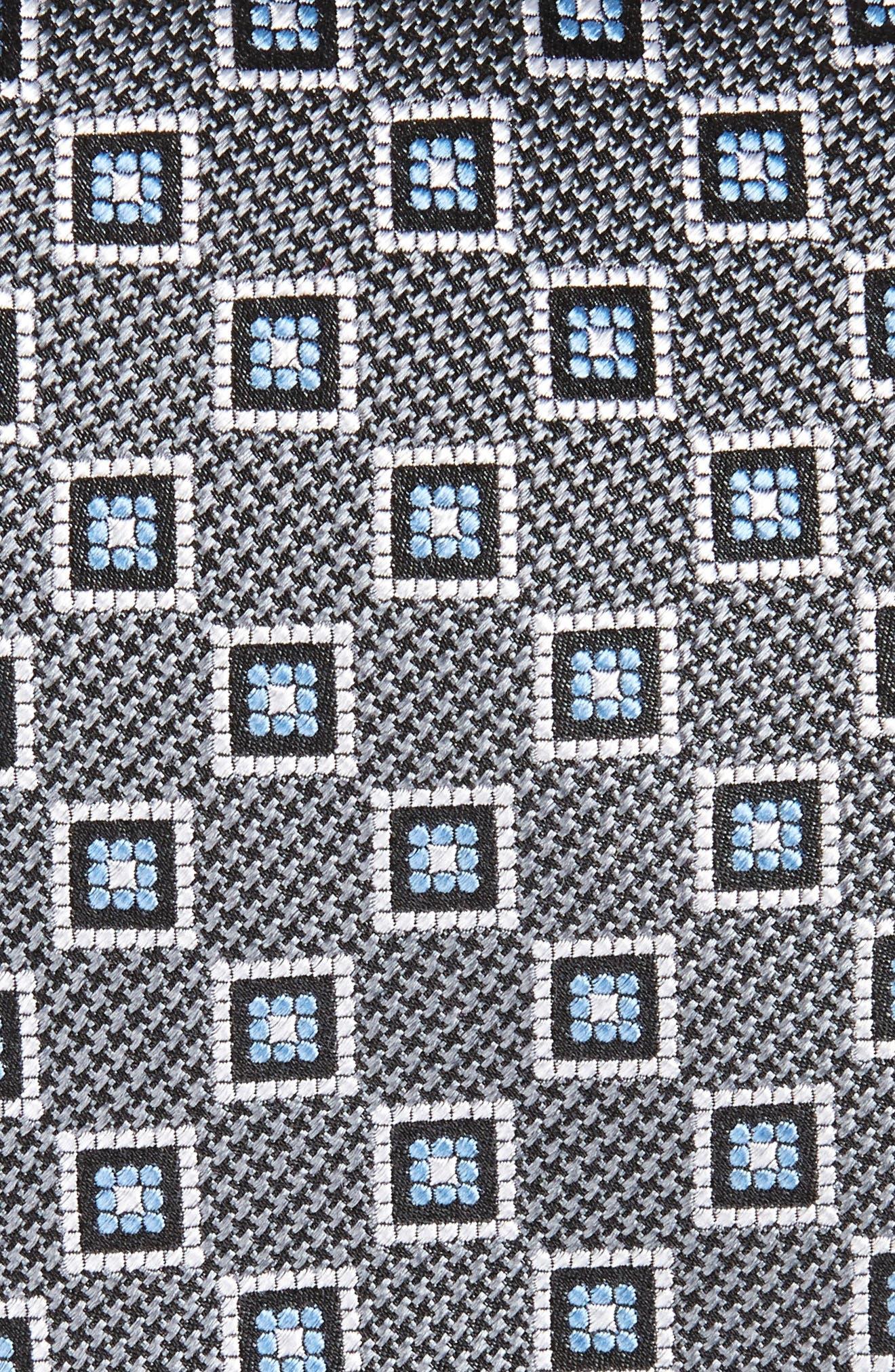 Neat Geometric Medallion Silk Tie,                             Alternate thumbnail 2, color,                             040