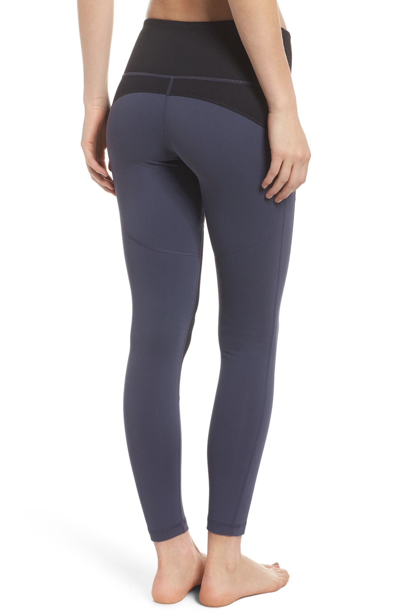 Autumn Block Ankle Leggings,                             Alternate thumbnail 2, color,                             021
