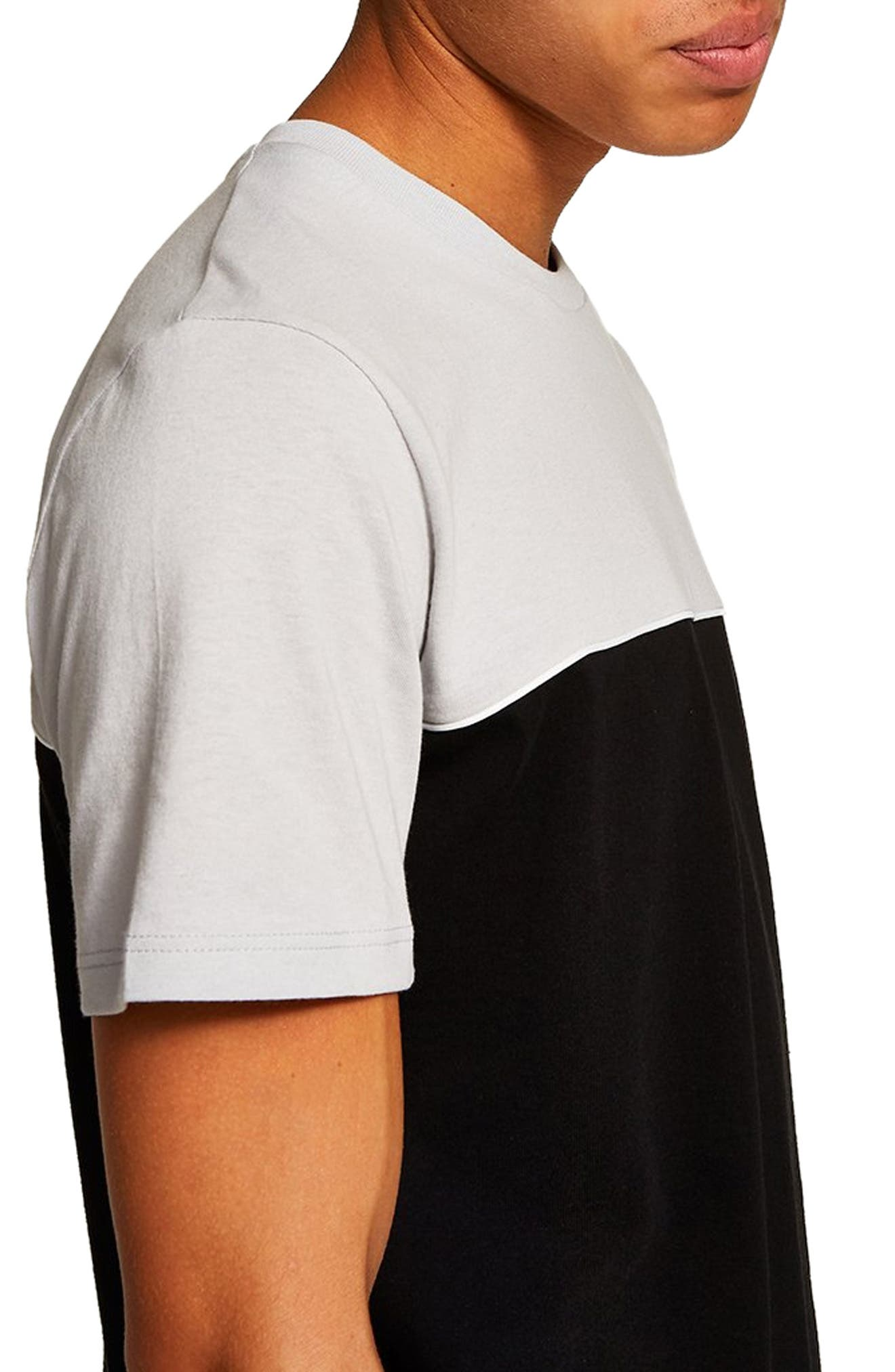 Colorblock T-Shirt,                             Alternate thumbnail 3, color,                             BLACK MULTI