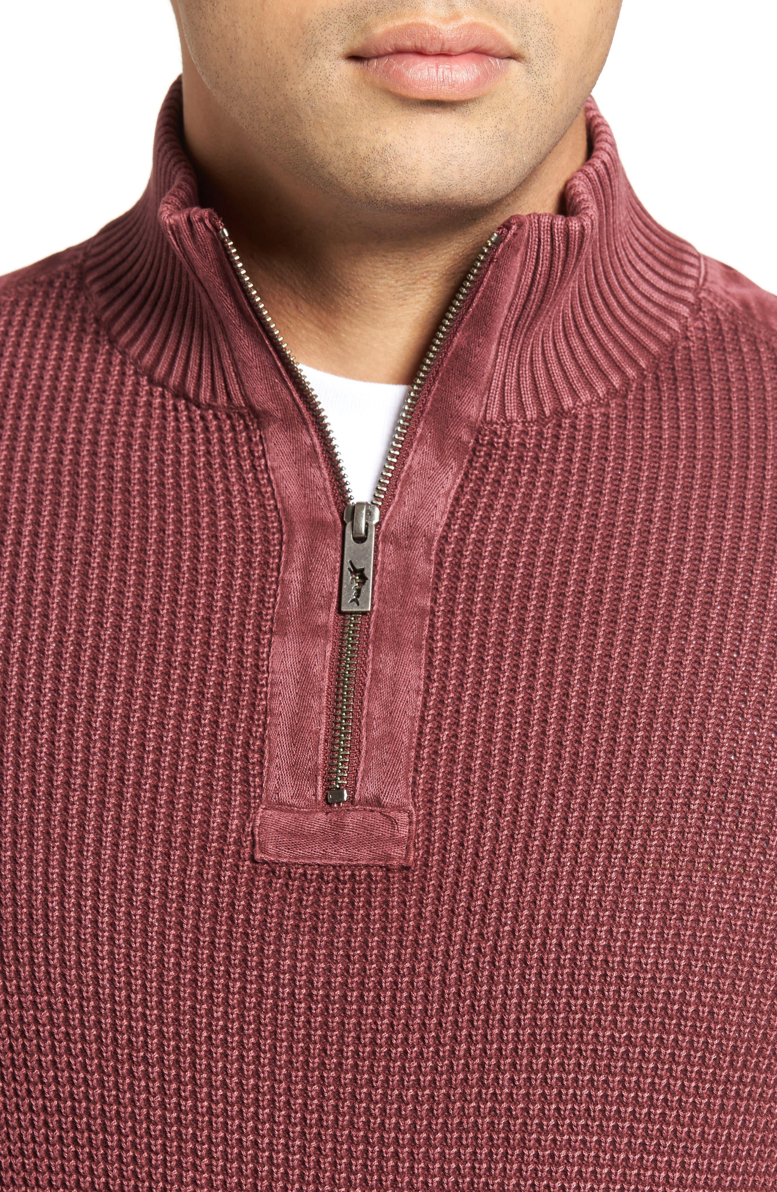 'Coastal Shores' Quarter Zip Sweater,                             Alternate thumbnail 35, color,