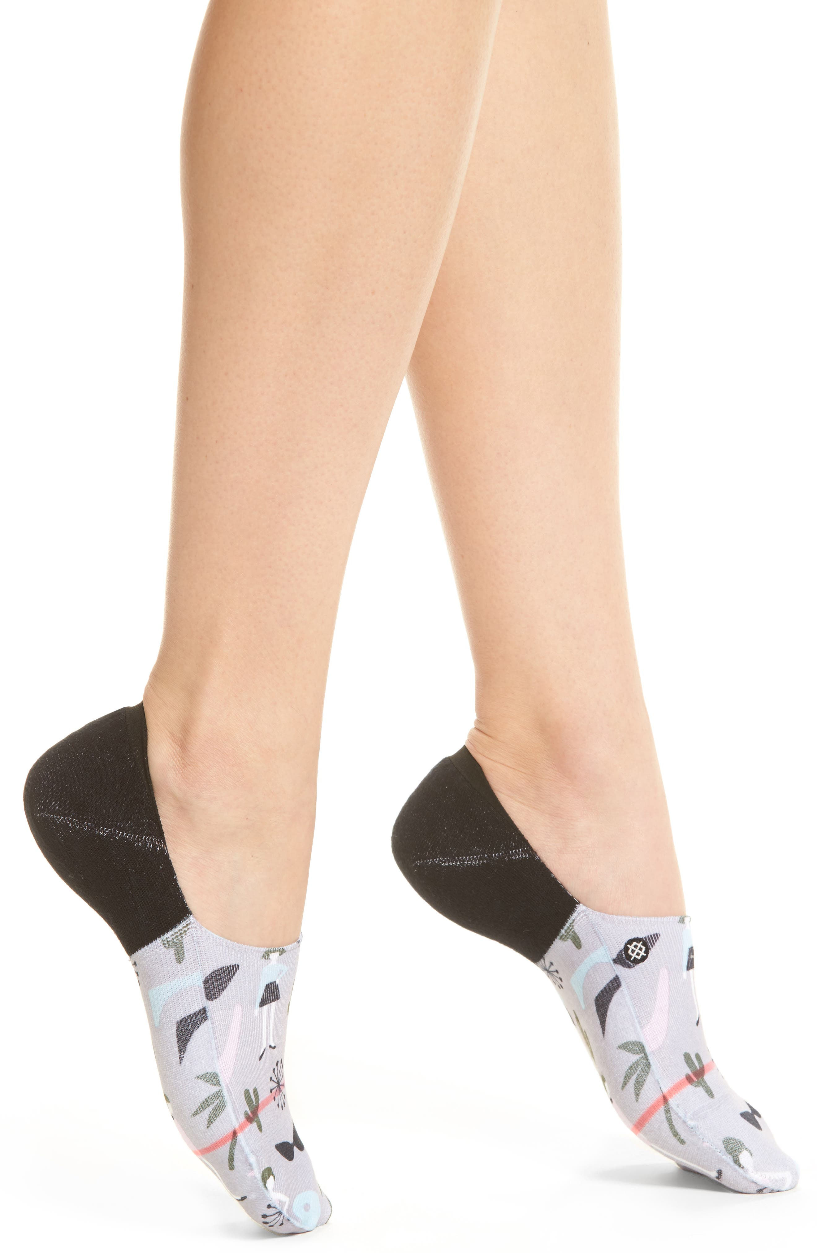 x Bijou Going Steady Super Invisible No-Show Socks,                         Main,                         color, GREY