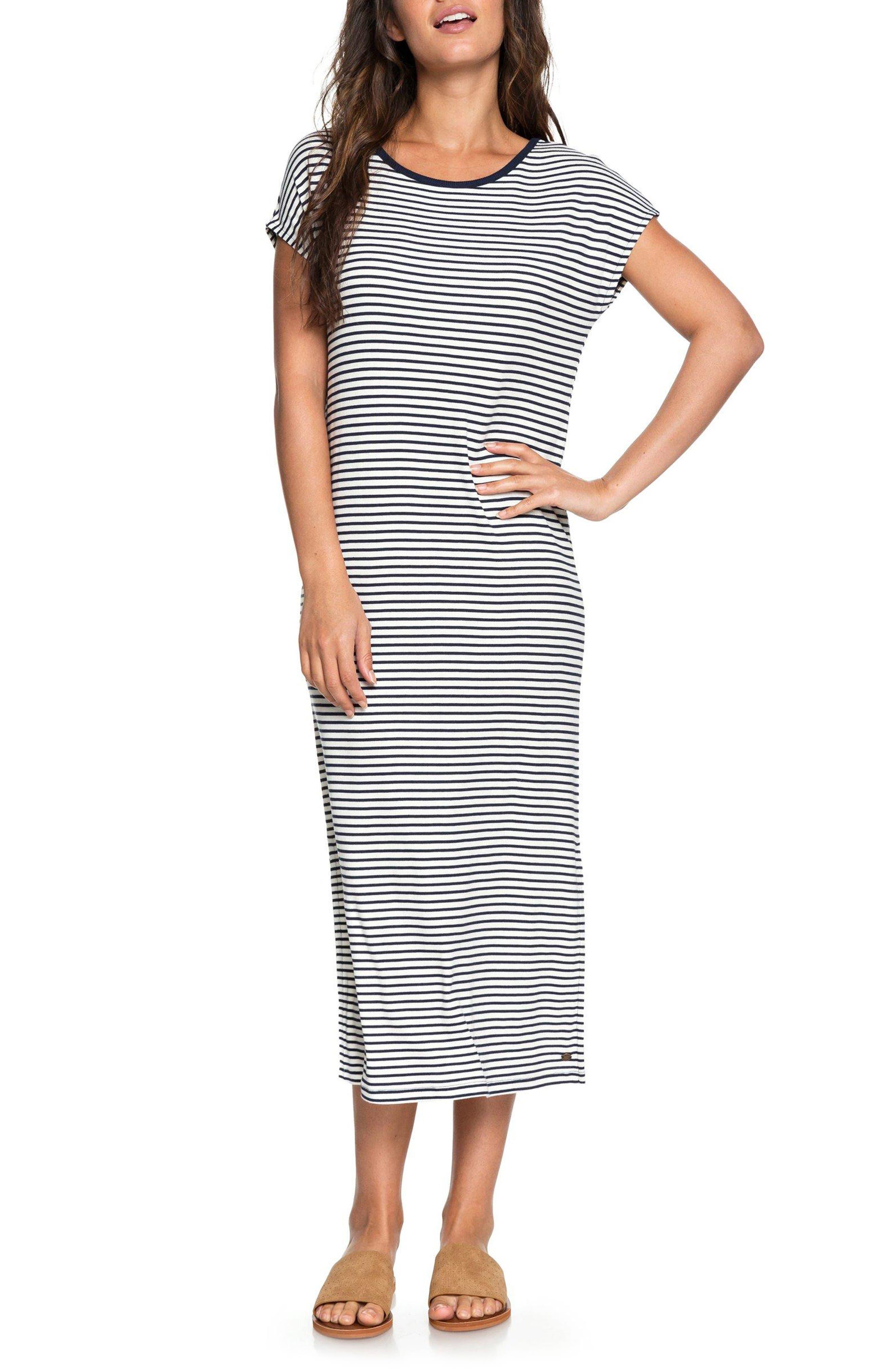 Make It New Stripe Midi Dress,                             Main thumbnail 1, color,                             100