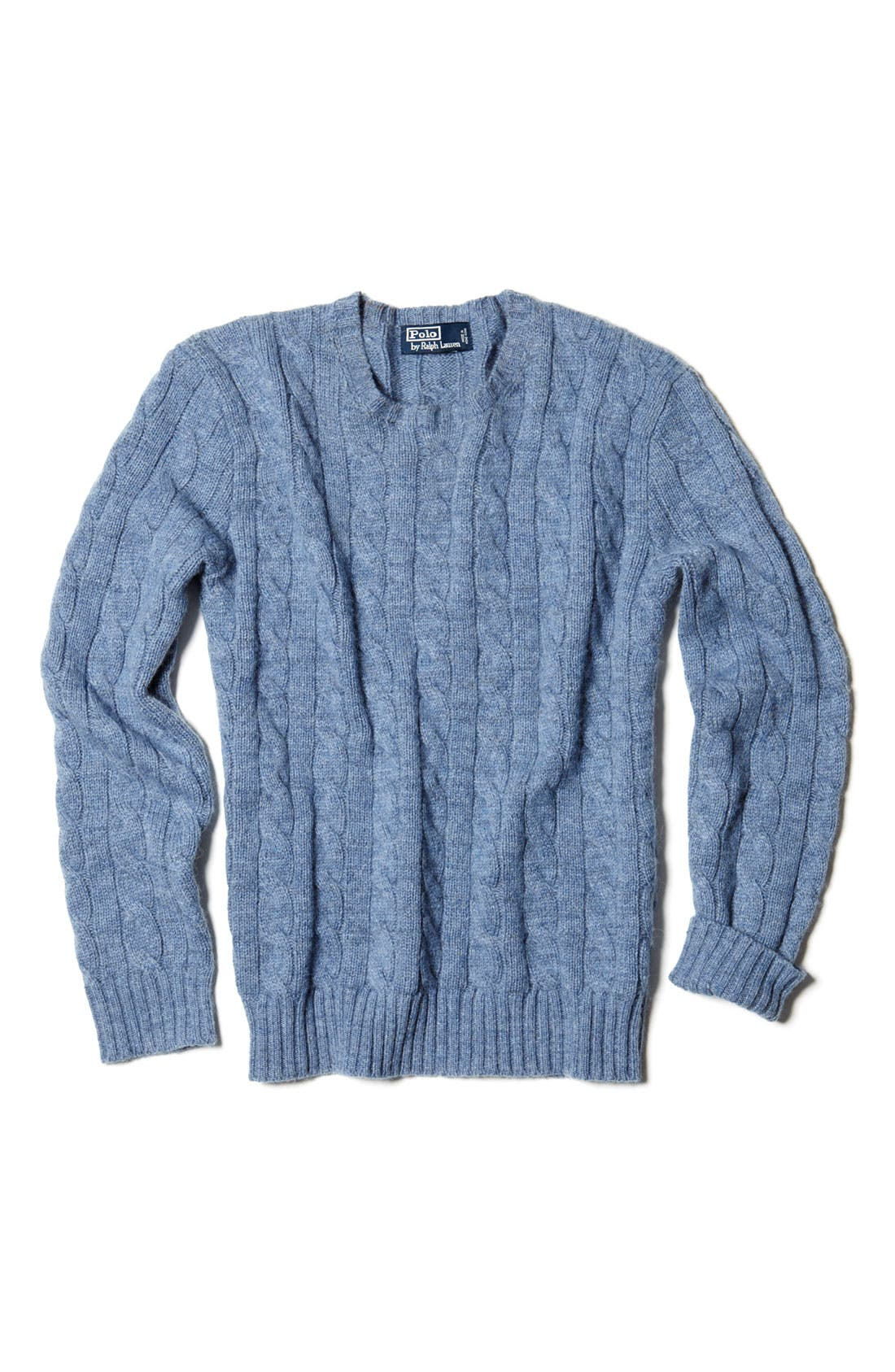 Cable Knit Cashmere Sweater,                             Alternate thumbnail 4, color,                             420
