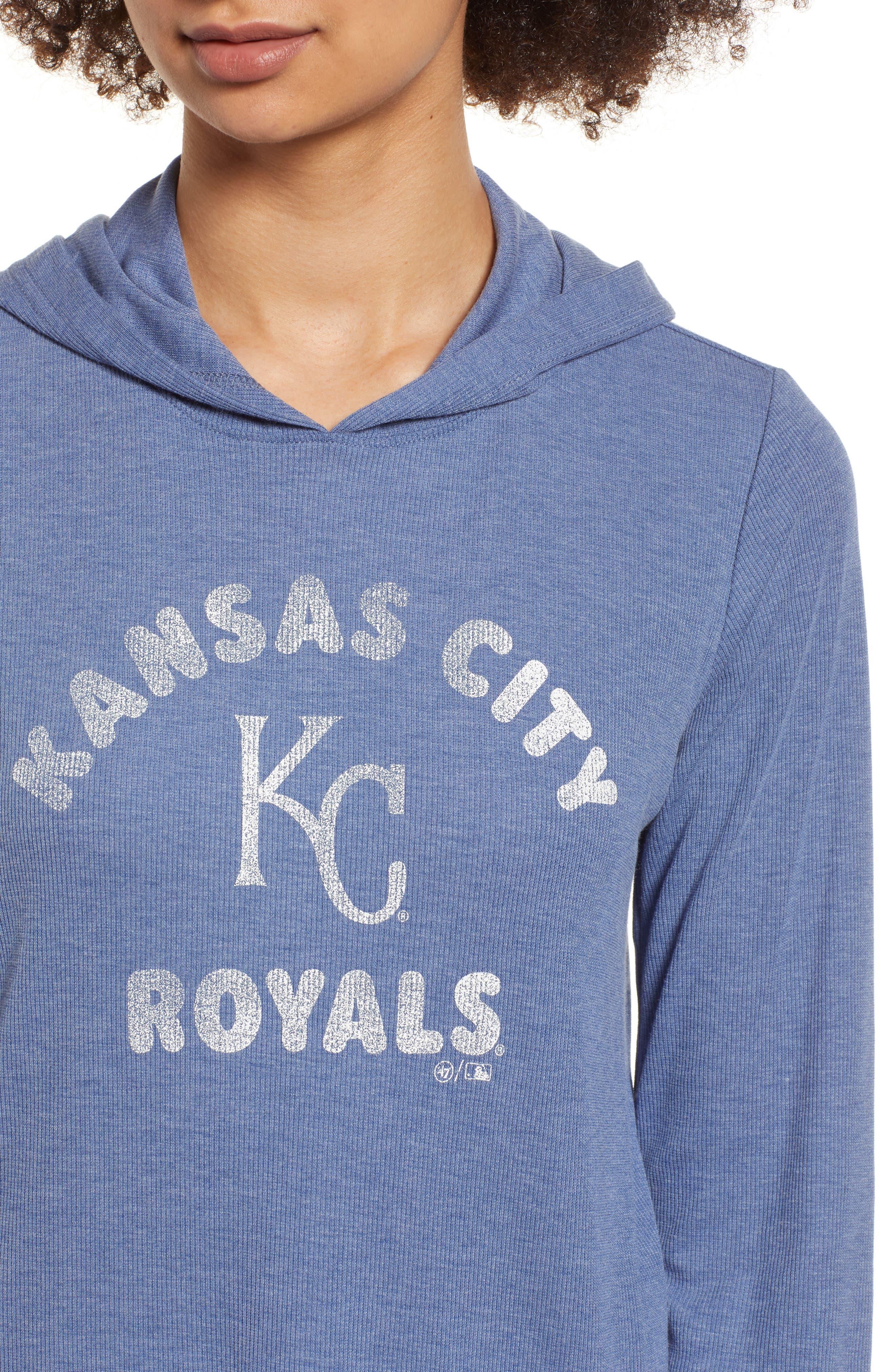 Campbell Kansas City Royals Rib Knit Hooded Top,                             Alternate thumbnail 4, color,