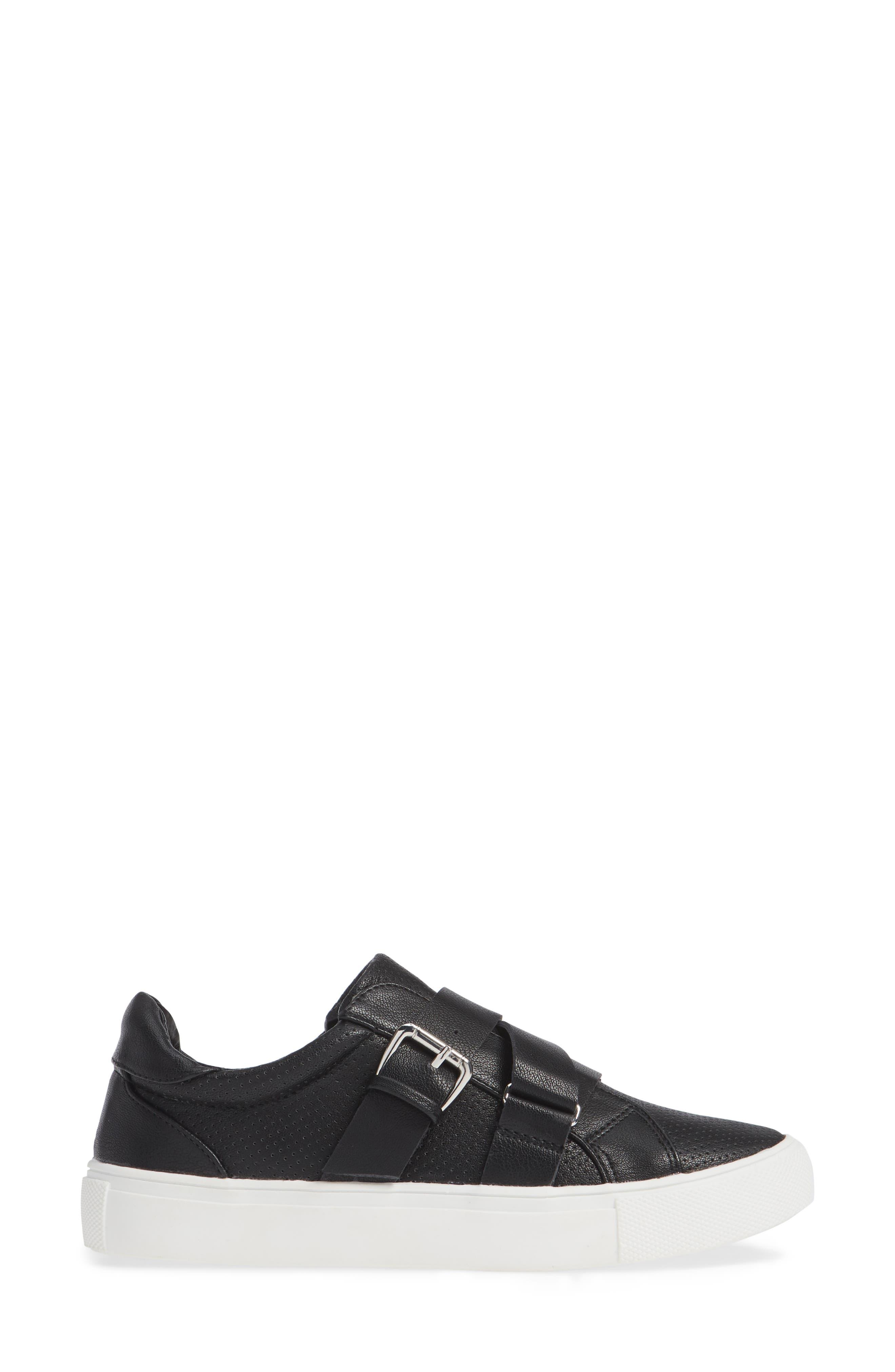 Kaelynn Sneaker,                             Alternate thumbnail 3, color,                             BLACK