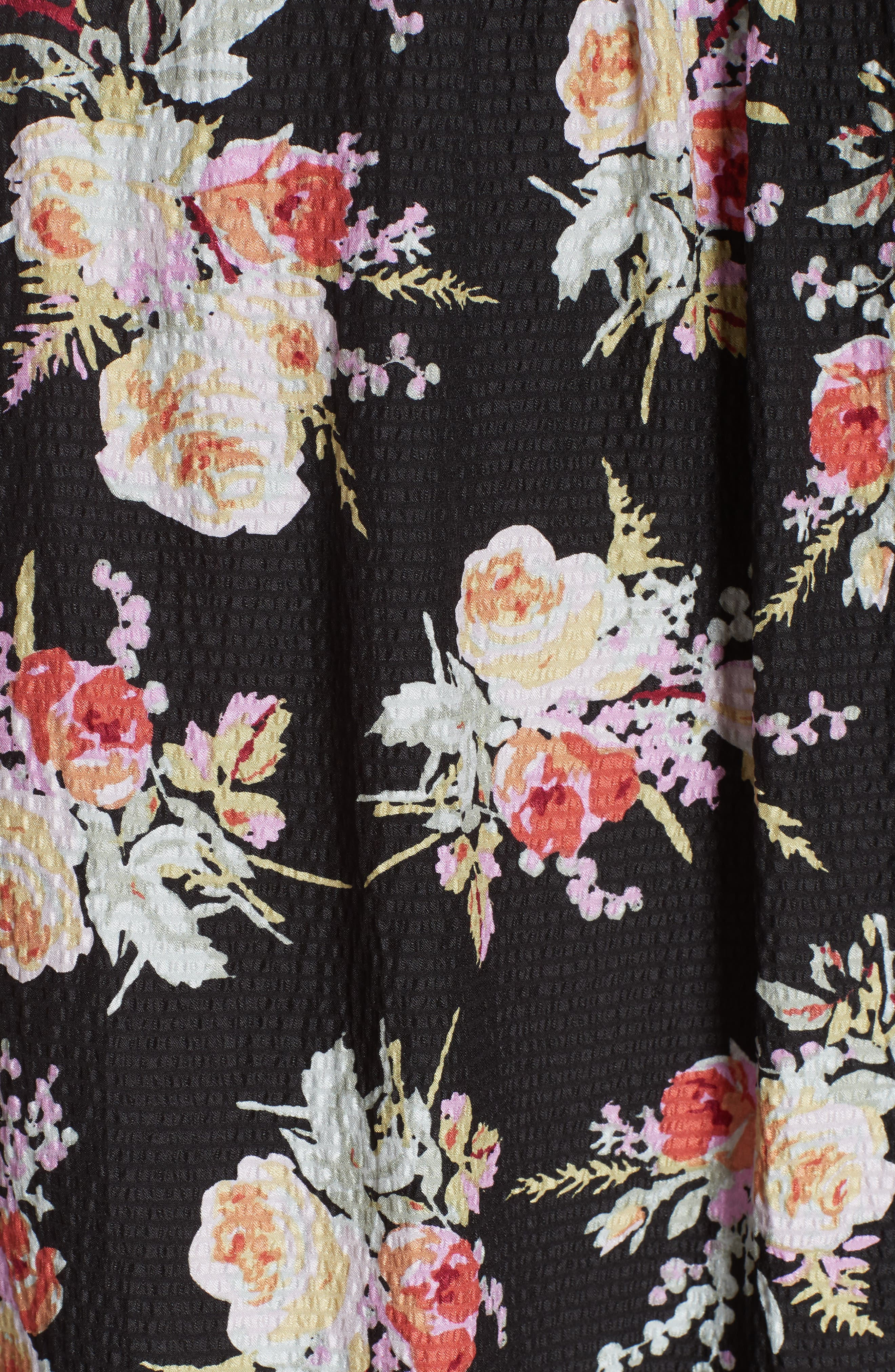 Floral Silk Blouse,                             Alternate thumbnail 5, color,                             014