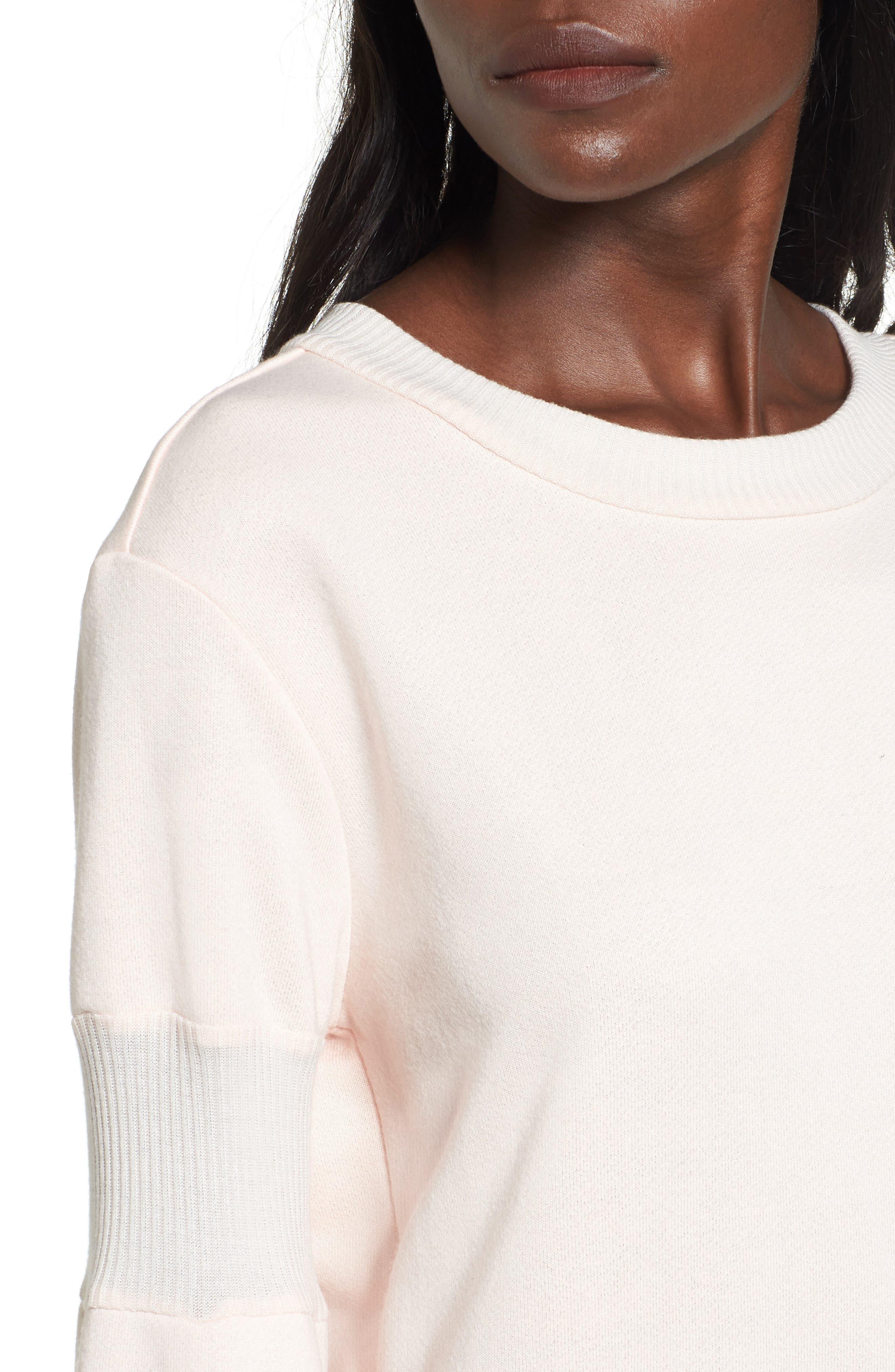 Bell Sleeve Sweatshirt Dress,                             Alternate thumbnail 8, color,