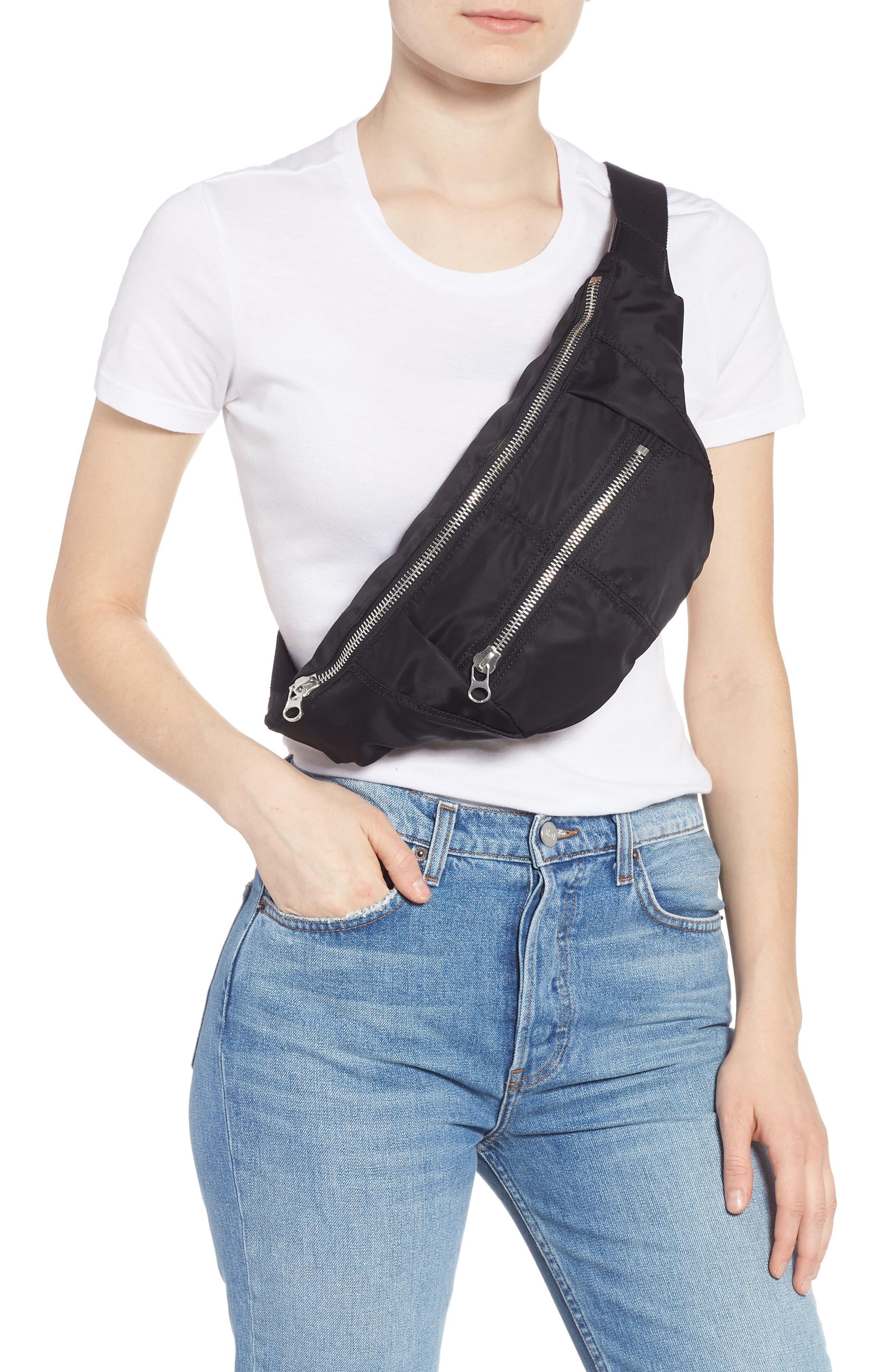 Noomi Fanny Pack,                             Alternate thumbnail 3, color,                             BLACK
