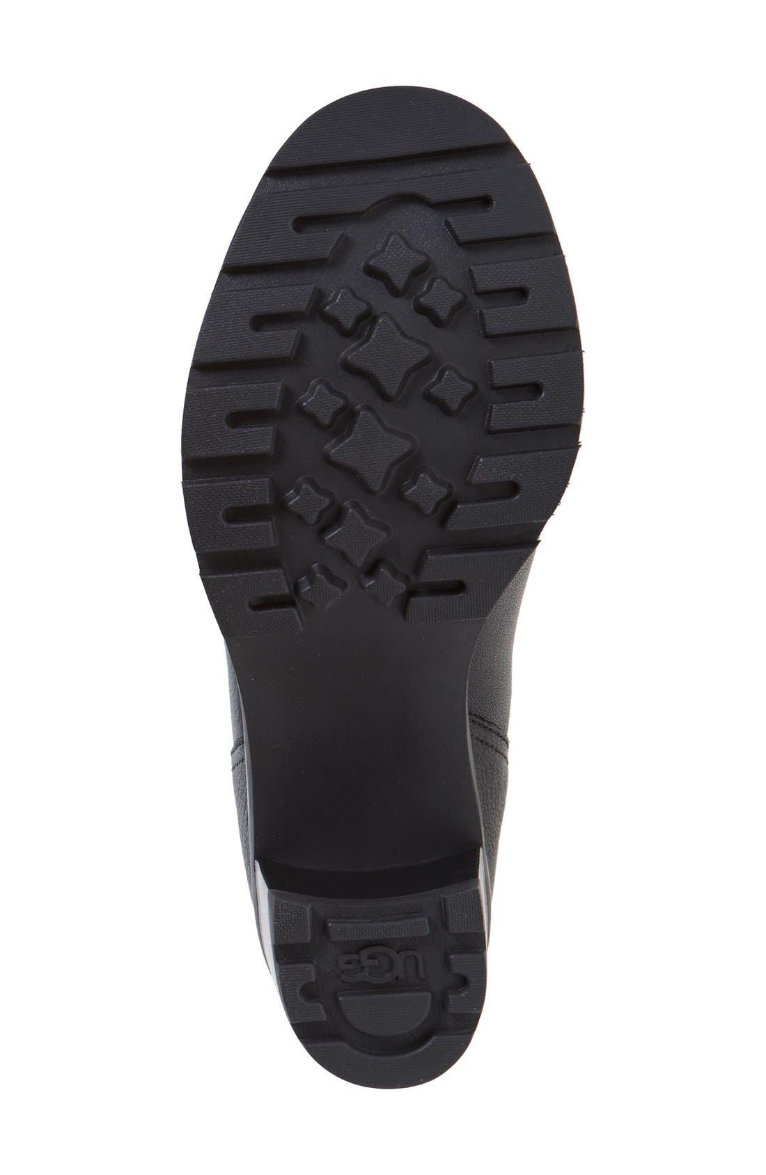 'Jessia' Water Resistant Block Heel Boot,                             Alternate thumbnail 4, color,                             001