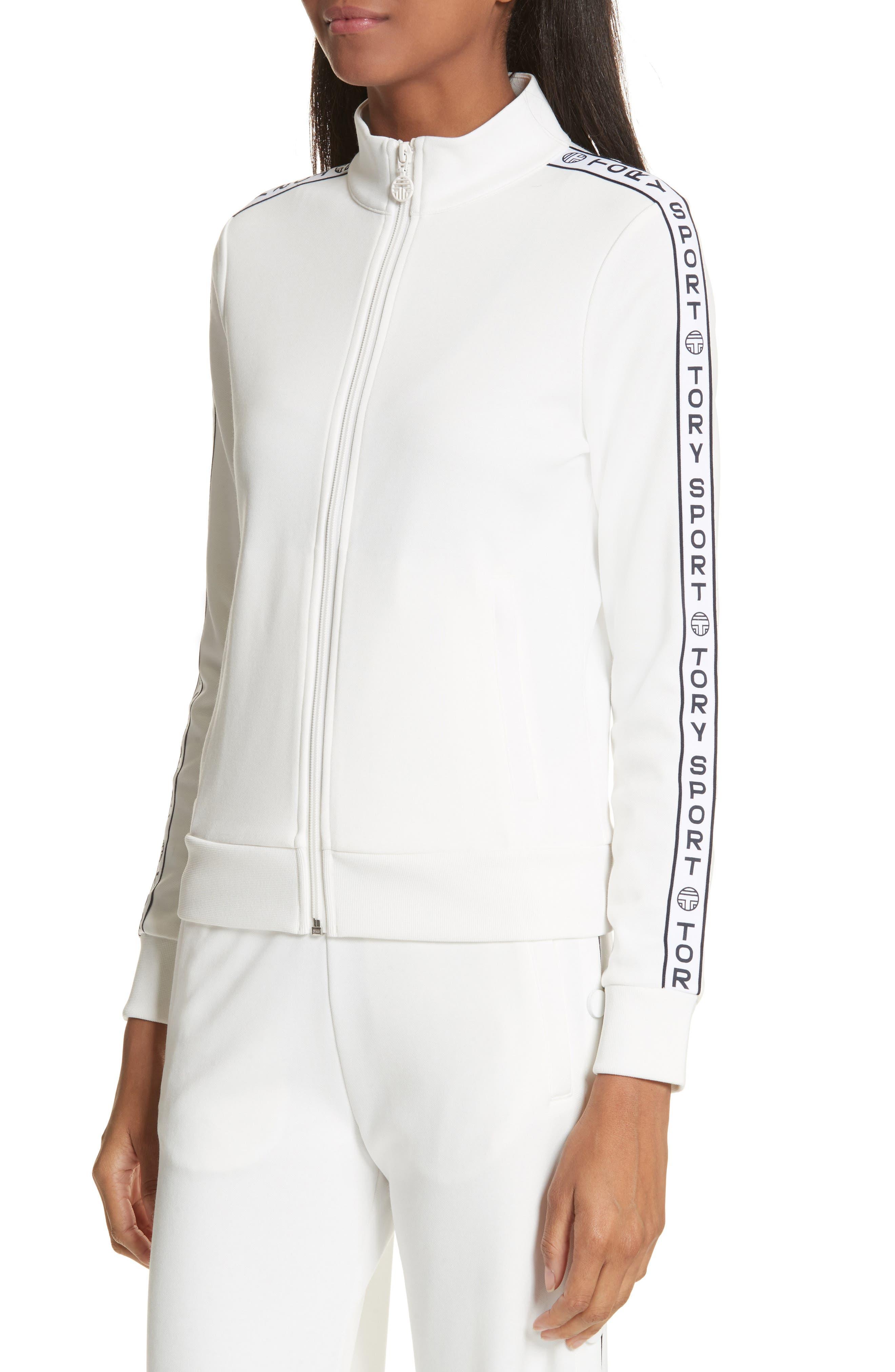 Banner Track Jacket,                             Alternate thumbnail 4, color,                             SNOW WHITE