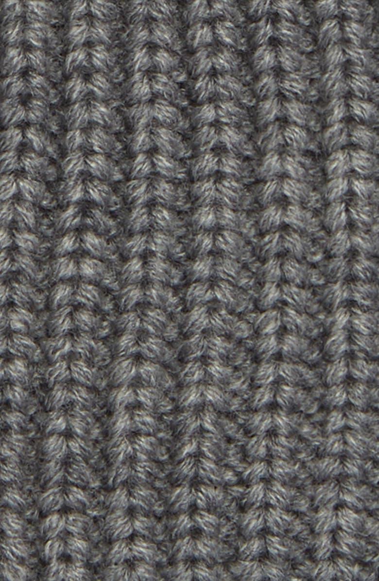 d9d5c5a8100 Shop Allsaints Half Cardigan Stitch Beanie - Grey In Grey Marl