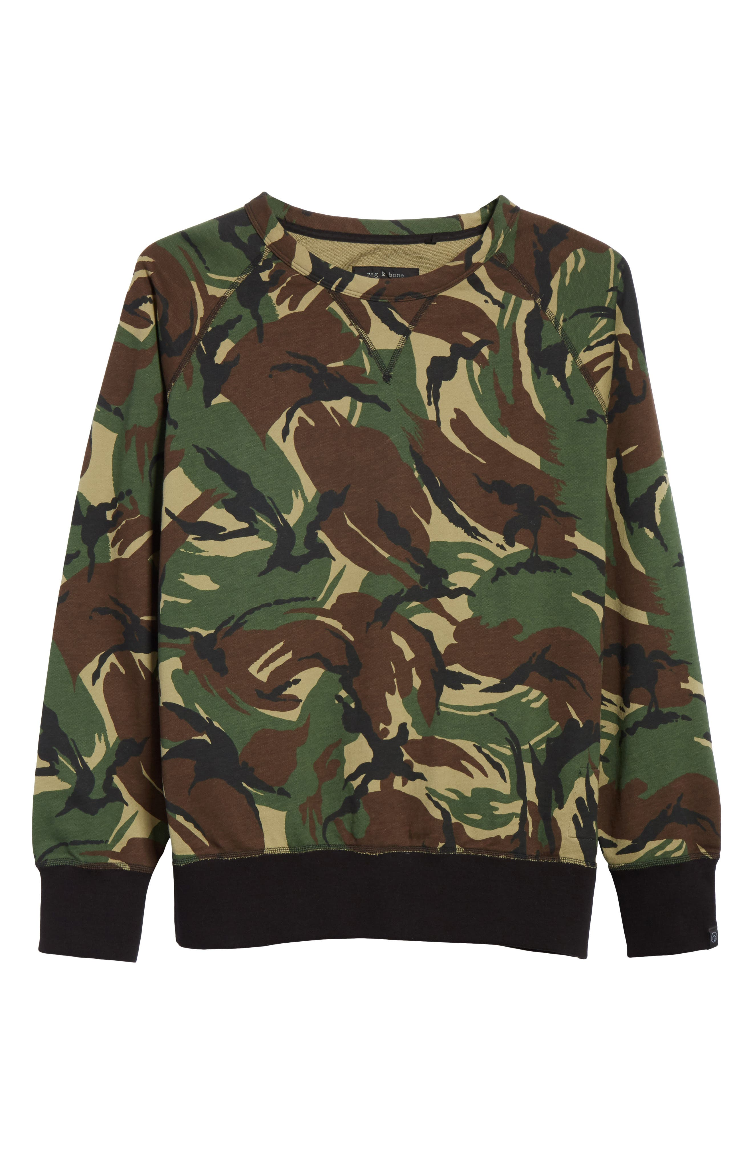 Camo Sweatshirt,                             Alternate thumbnail 6, color,